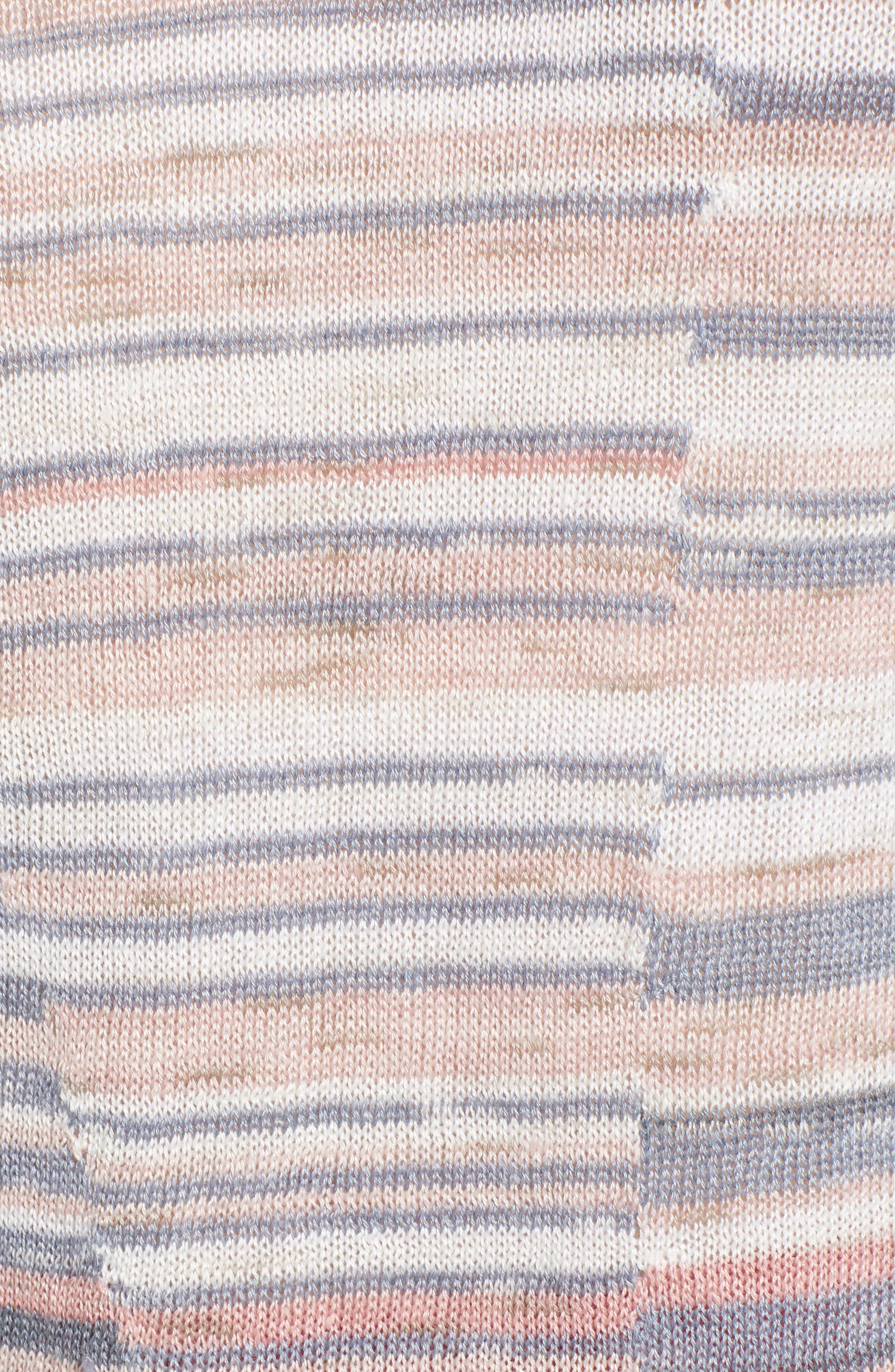 NIC+ZOE, Skyline Stripe Top, Alternate thumbnail 5, color, MULTI