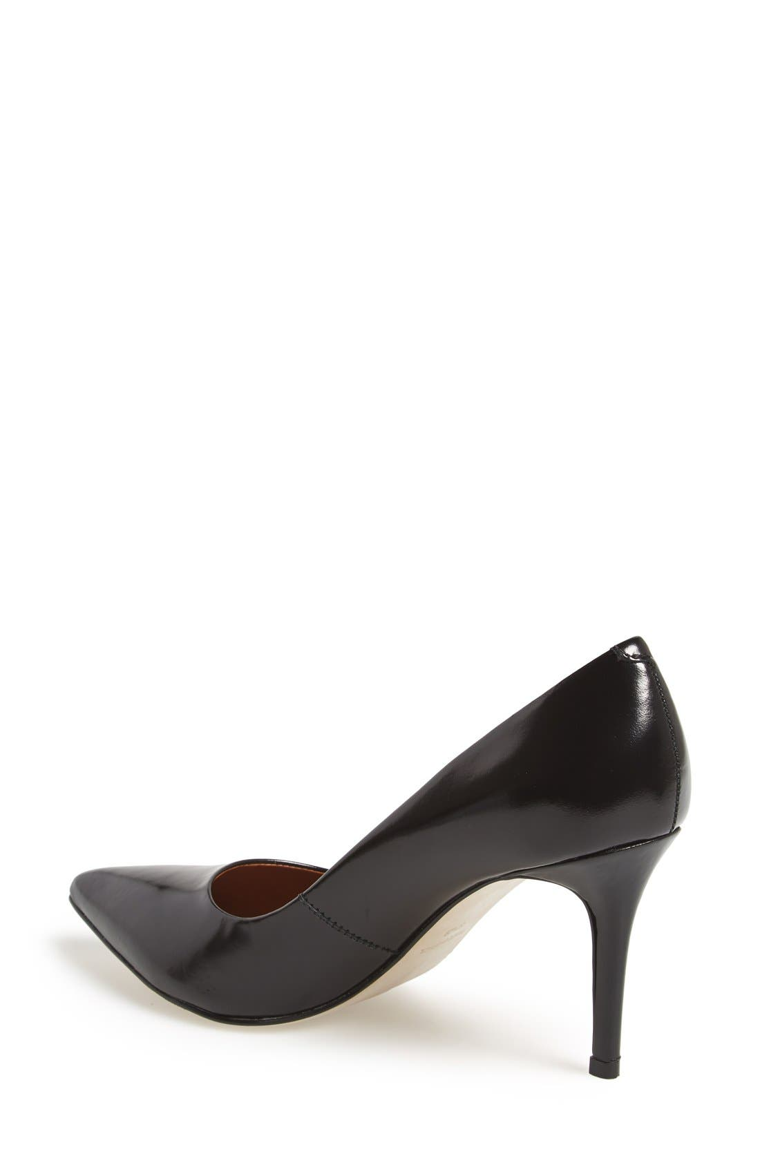 STEVEN BY STEVE MADDEN, 'Shiela' Pointy Toe Pump, Alternate thumbnail 3, color, 001