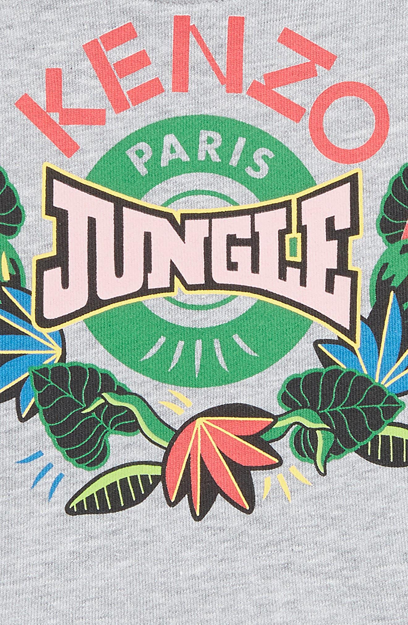 KENZO, Jungle Fleece Dress, Alternate thumbnail 2, color, MARLE GREY
