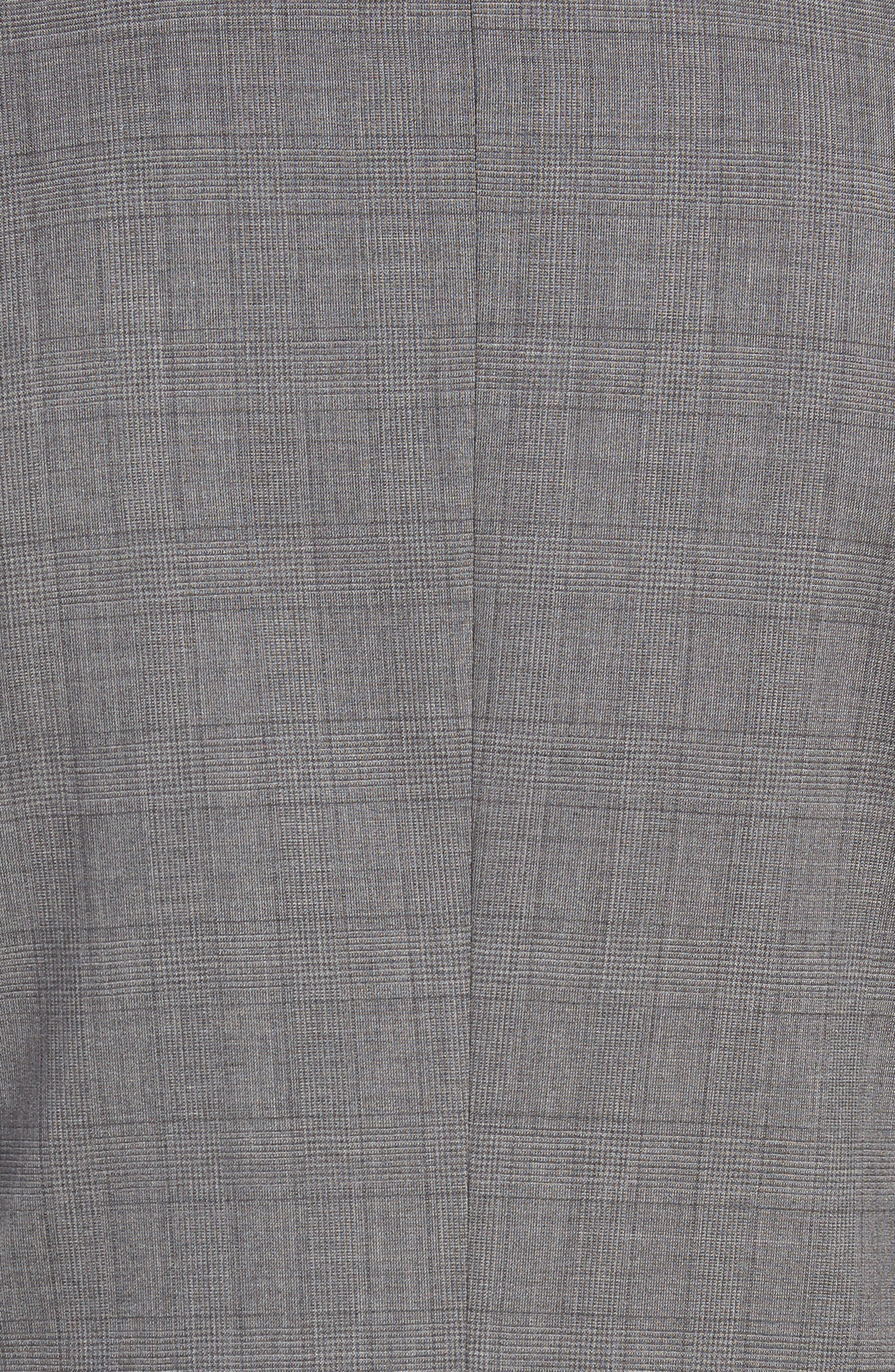 BOSS, Huge/Genius Trim Fit Plaid Wool Suit, Alternate thumbnail 7, color, 069