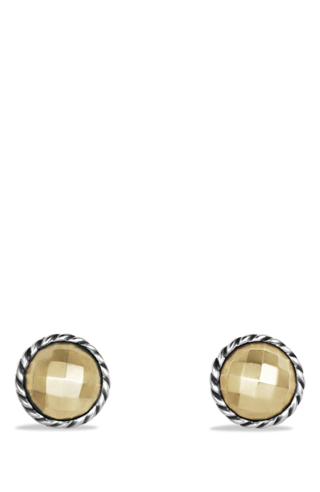 DAVID YURMAN 'Châtelaine' Earrings with Gold, Main, color, GOLD DOME