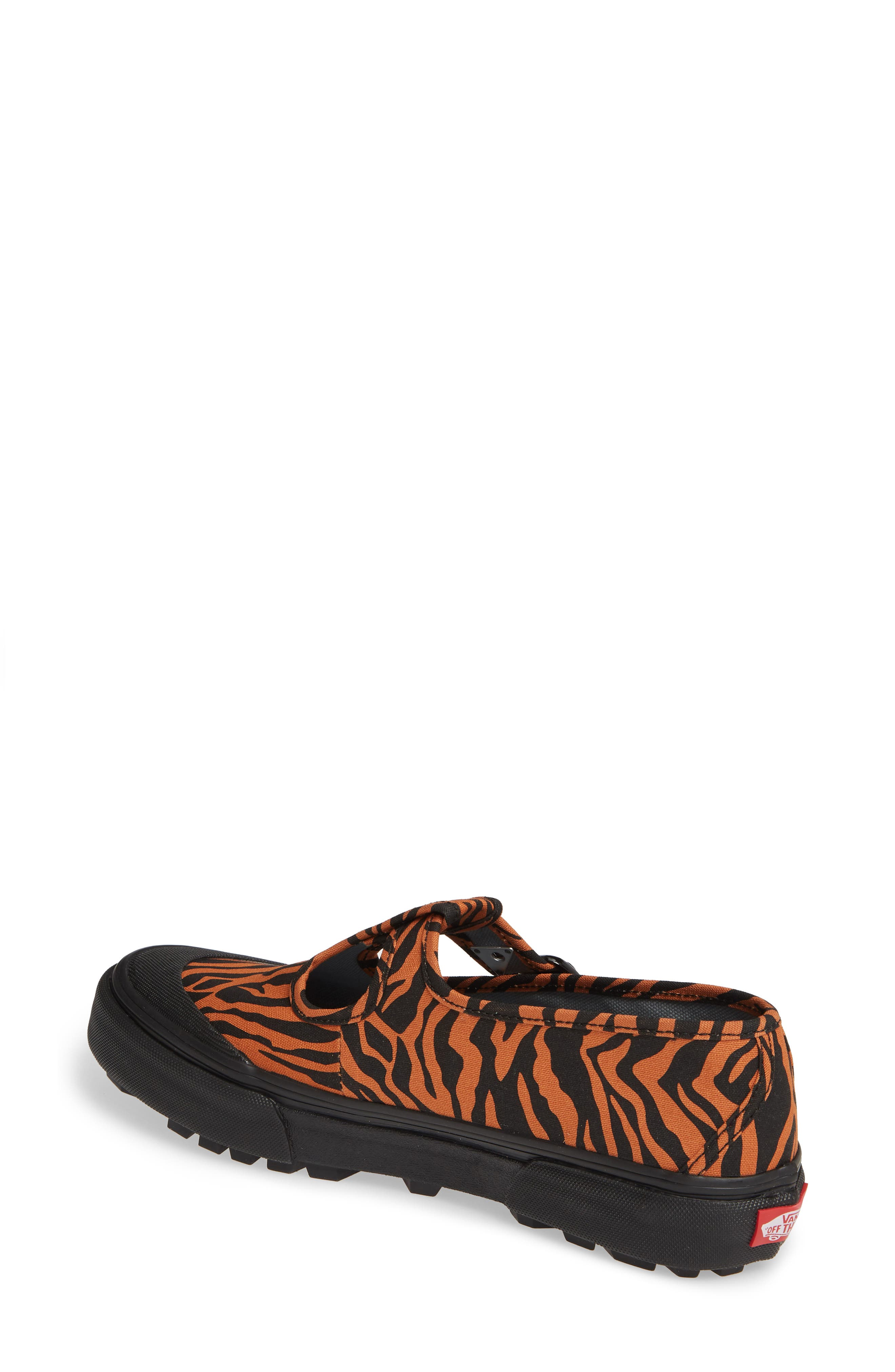 VANS, x Ashley Williams Style 38 Tiger Sneaker, Alternate thumbnail 2, color, TIGER/ BLACK