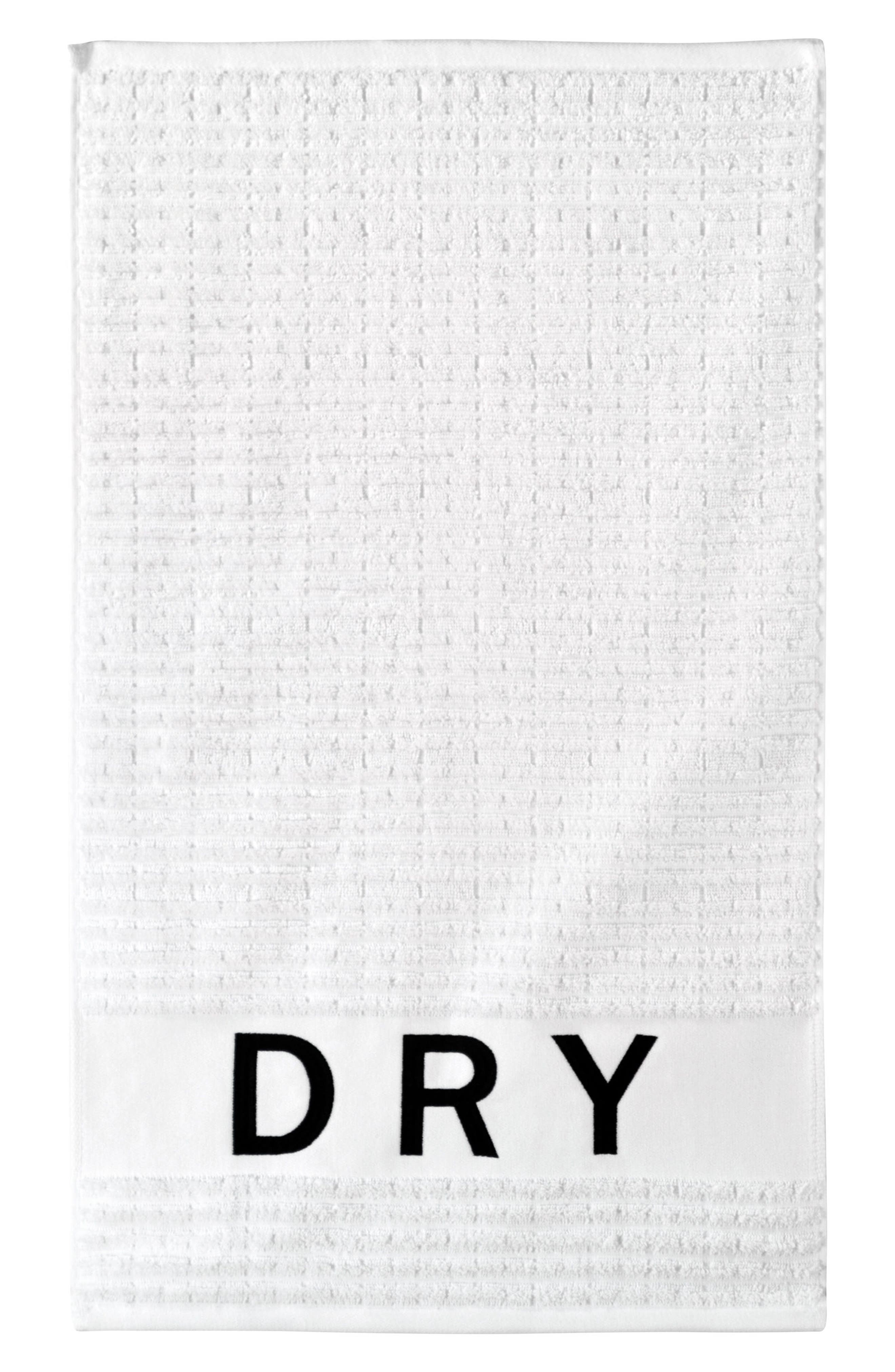 DKNY, Chatter Set of 3 Towels, Main thumbnail 1, color, WHITE