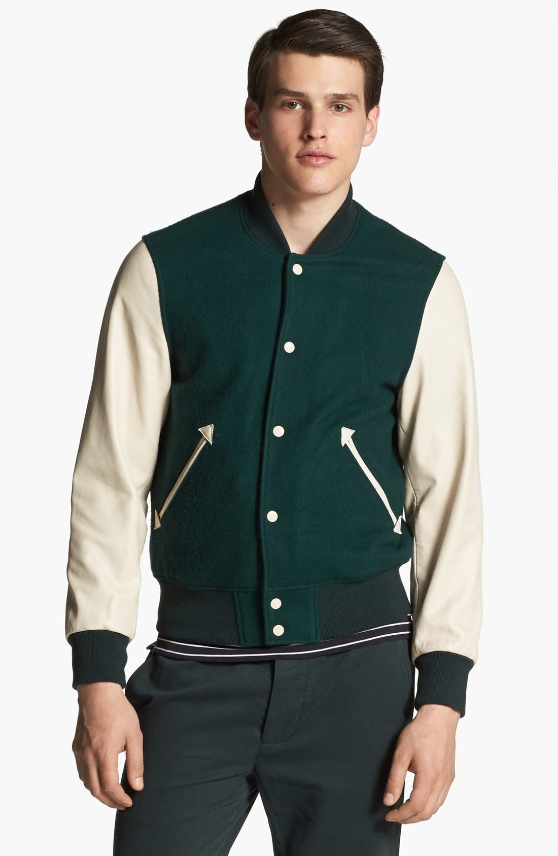 SHIPLEY & HALMOS 'Ralphie' Varsity Jacket, Main, color, 341
