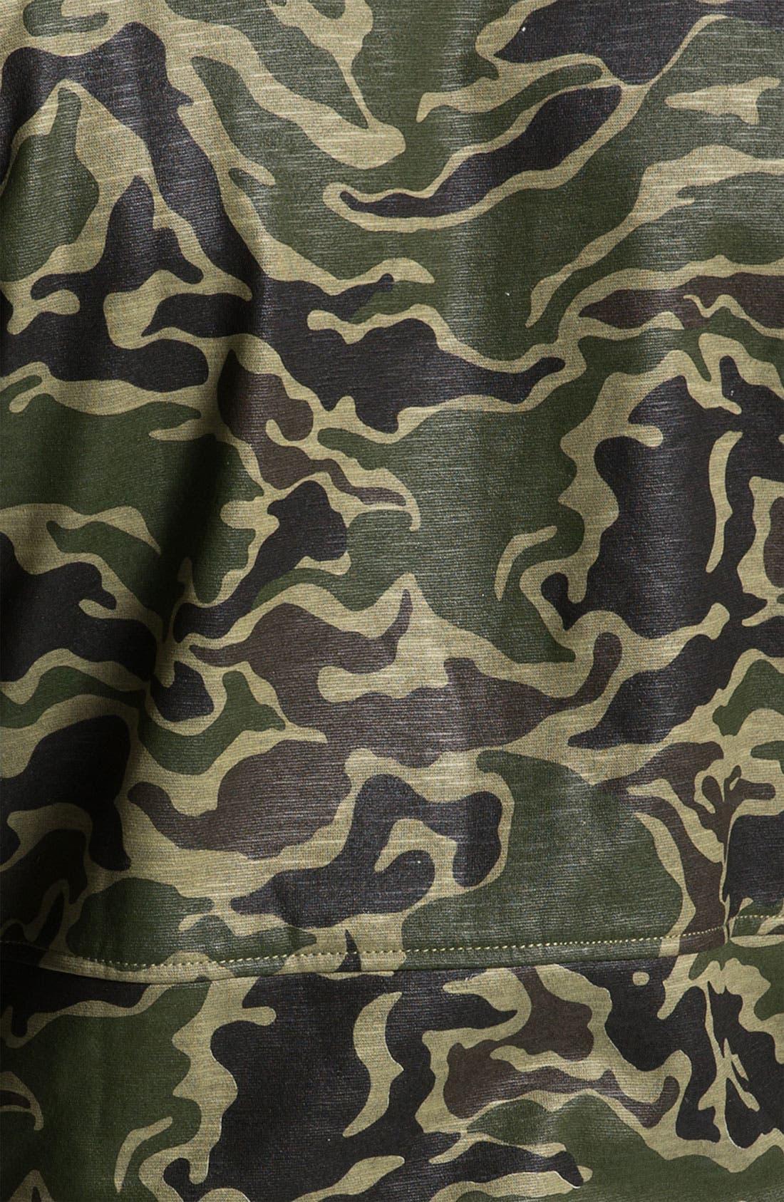 KANE & UNKE, Slub Knit Trim Fit Camo Jacket, Alternate thumbnail 3, color, 964