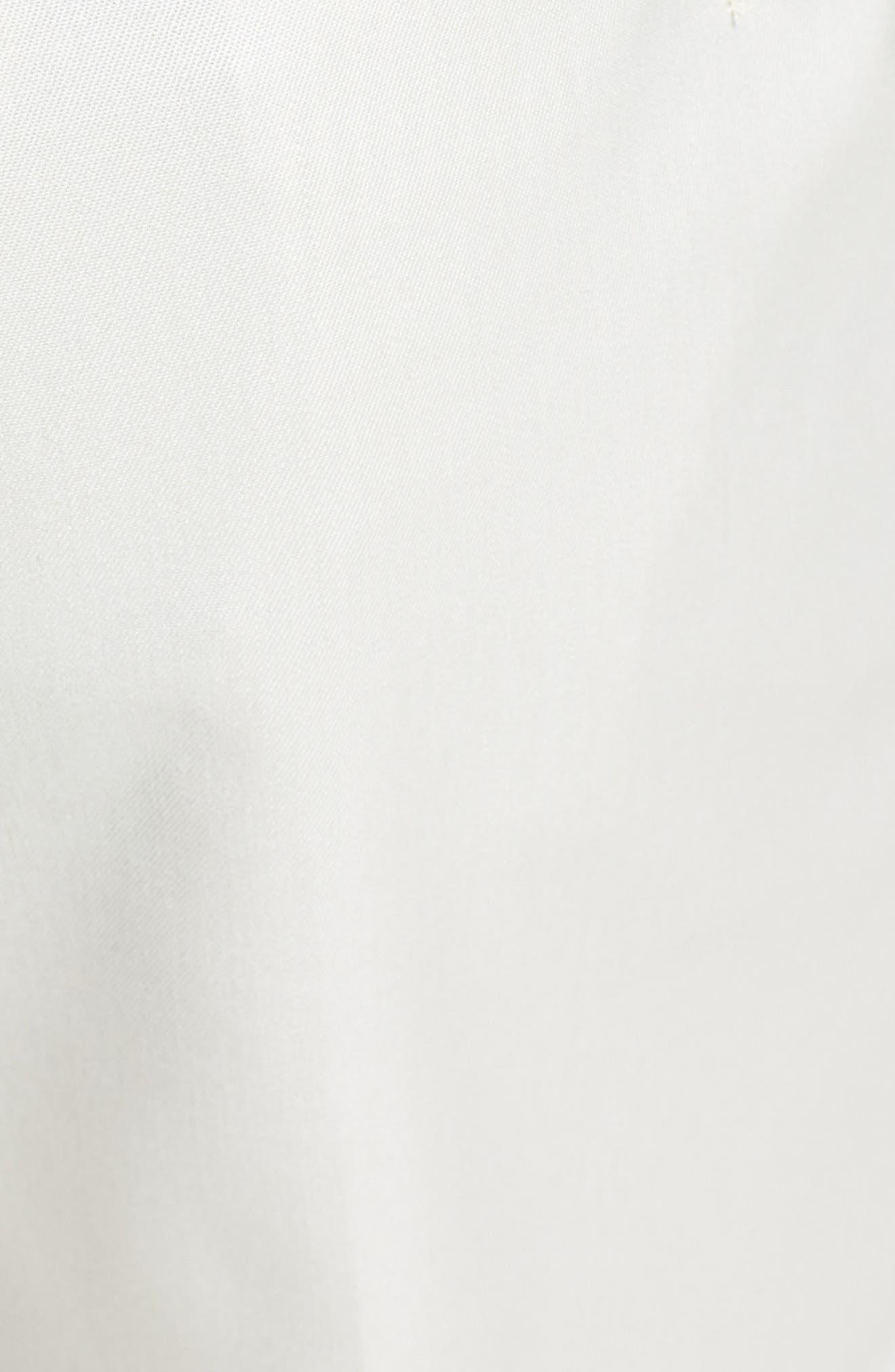 BERLE, Flat Front Wool Gabardine Trousers, Alternate thumbnail 4, color, STONE
