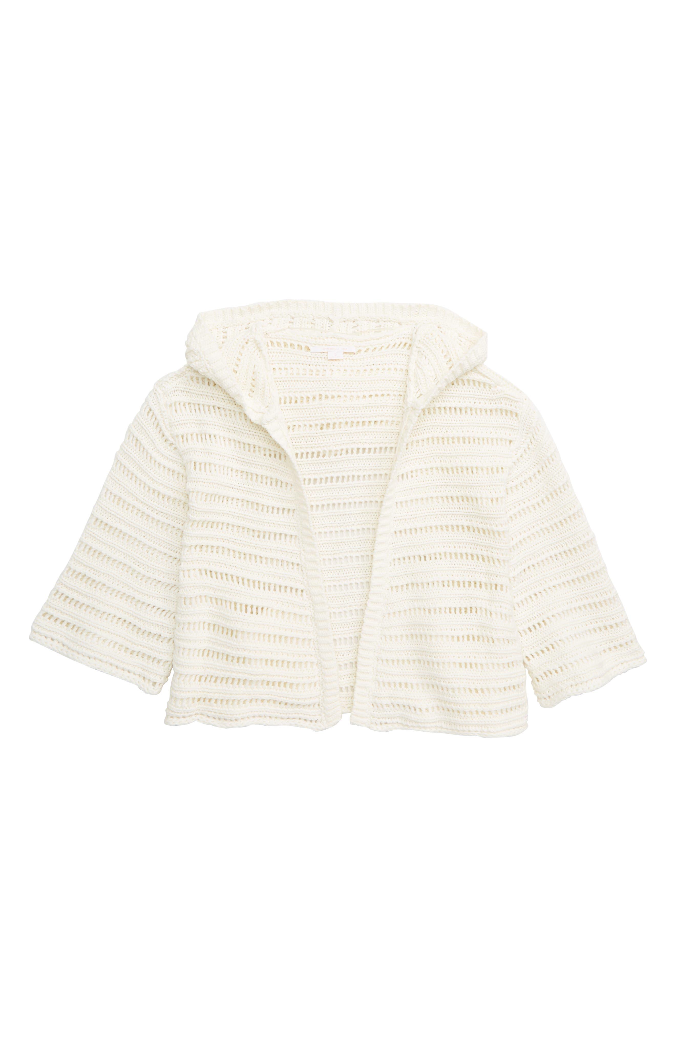 Girls ONeill Bayline Hooded Cardigan Sweater Size L (1214)  Beige