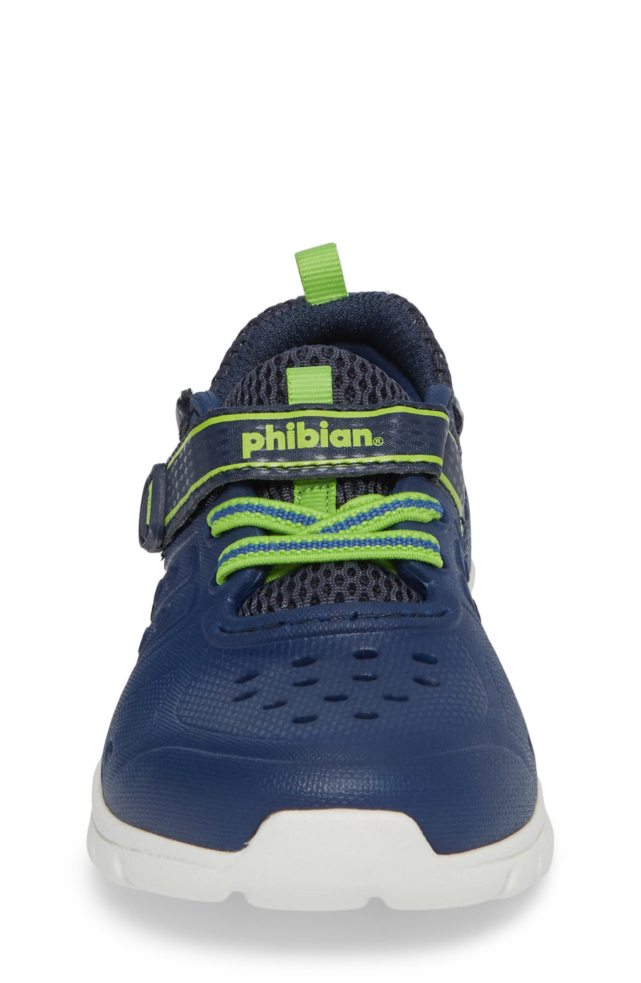 STRIDE RITE, Made2Play<sup>®</sup> Phibian Light-Up Sneaker, Alternate thumbnail 4, color, NAVY