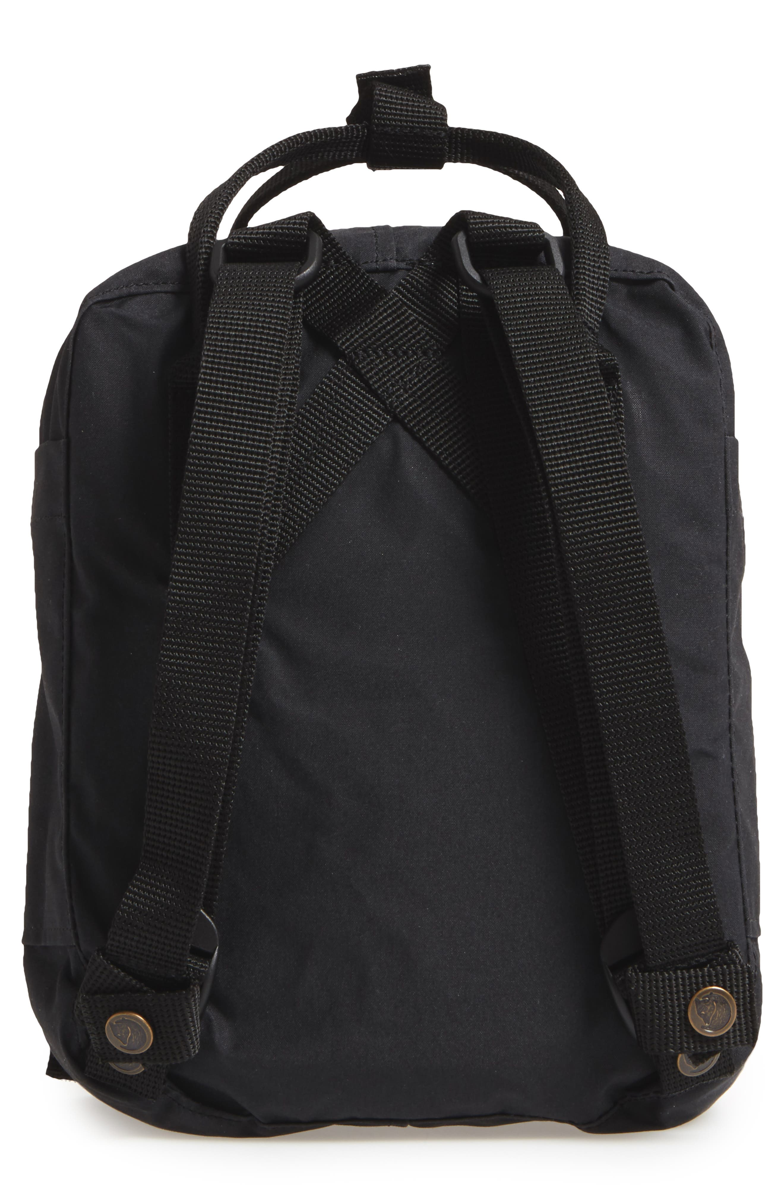 FJÄLLRÄVEN, 'Mini Kånken' Water Resistant Backpack, Alternate thumbnail 4, color, 001