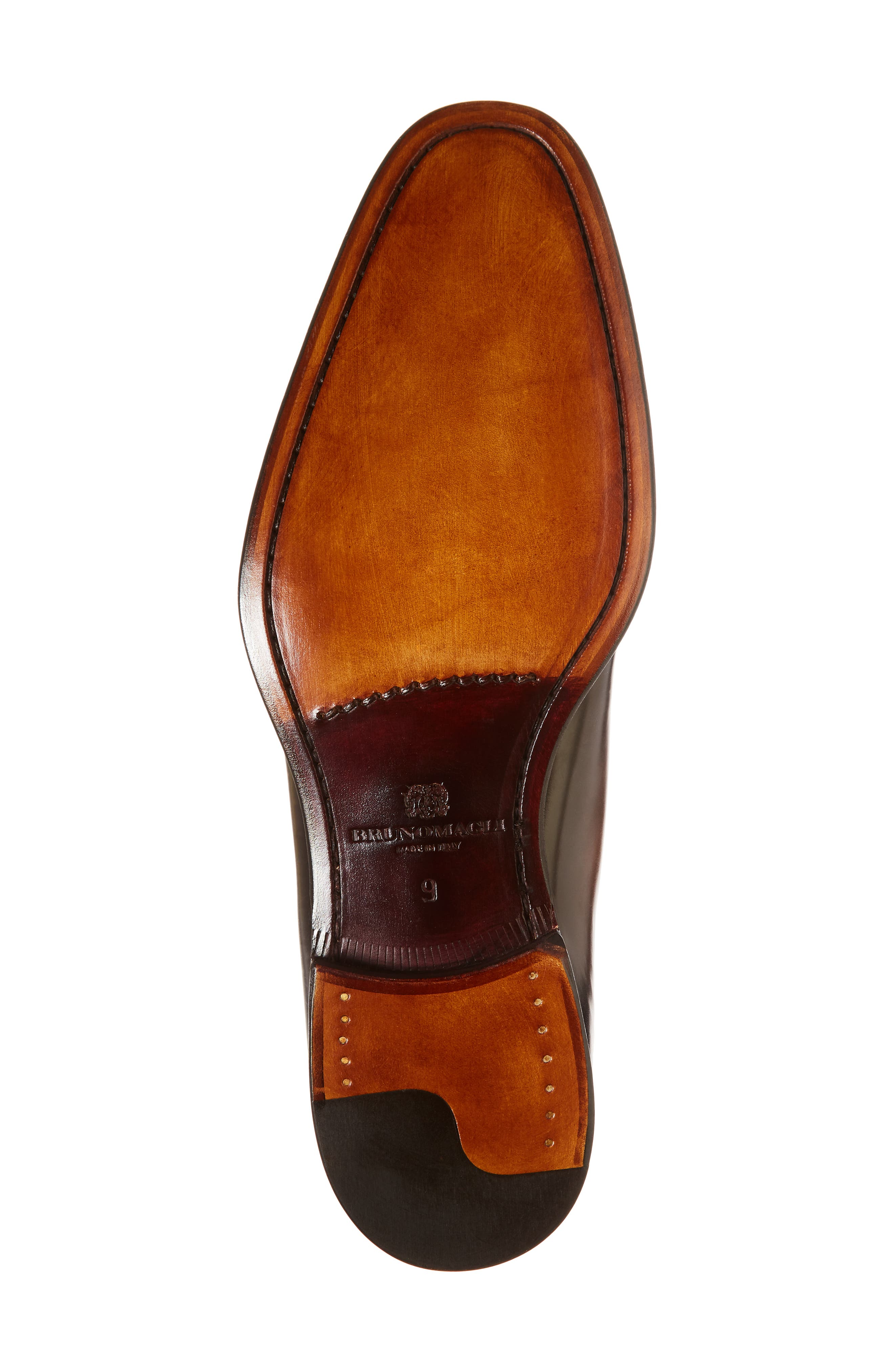 BRUNO MAGLI, Lucca Cap Toe Oxford, Alternate thumbnail 6, color, COGNAC
