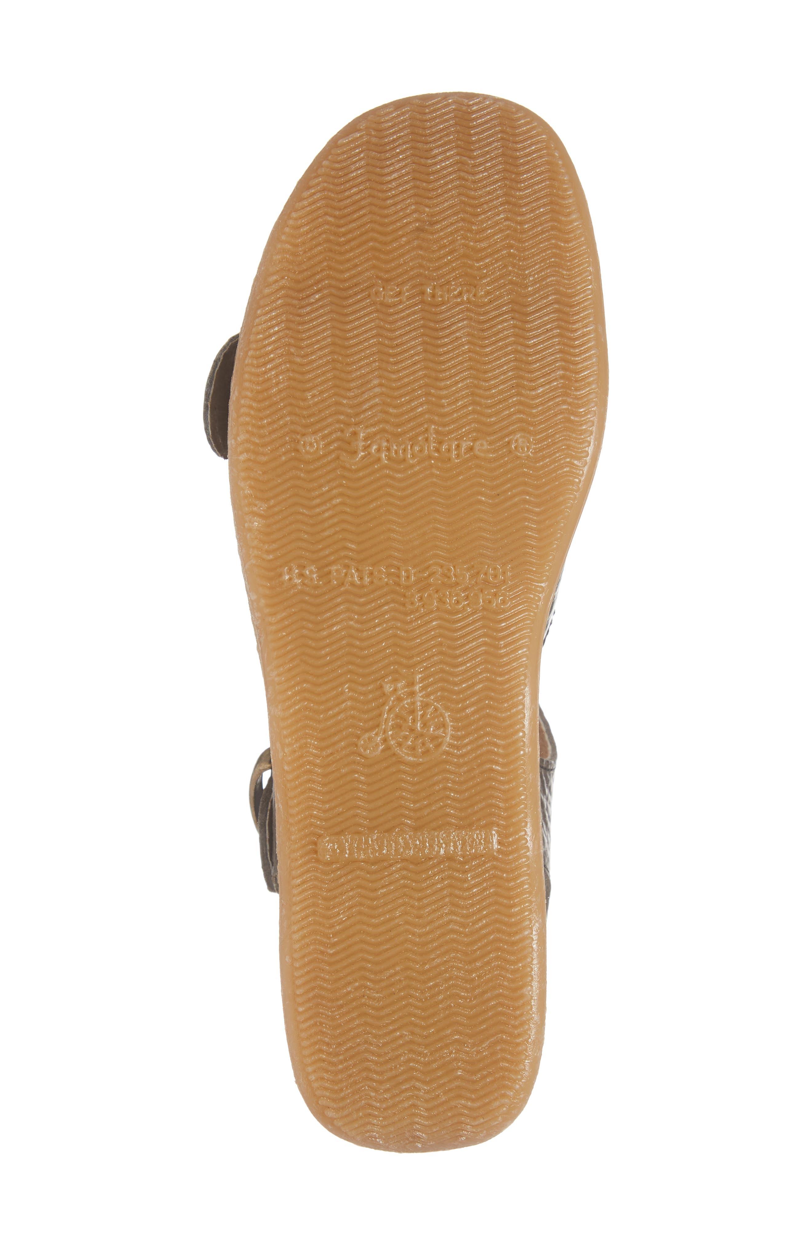 FAMOLARE, Double Play Platform Sandal, Alternate thumbnail 6, color, STEEL SUEDE