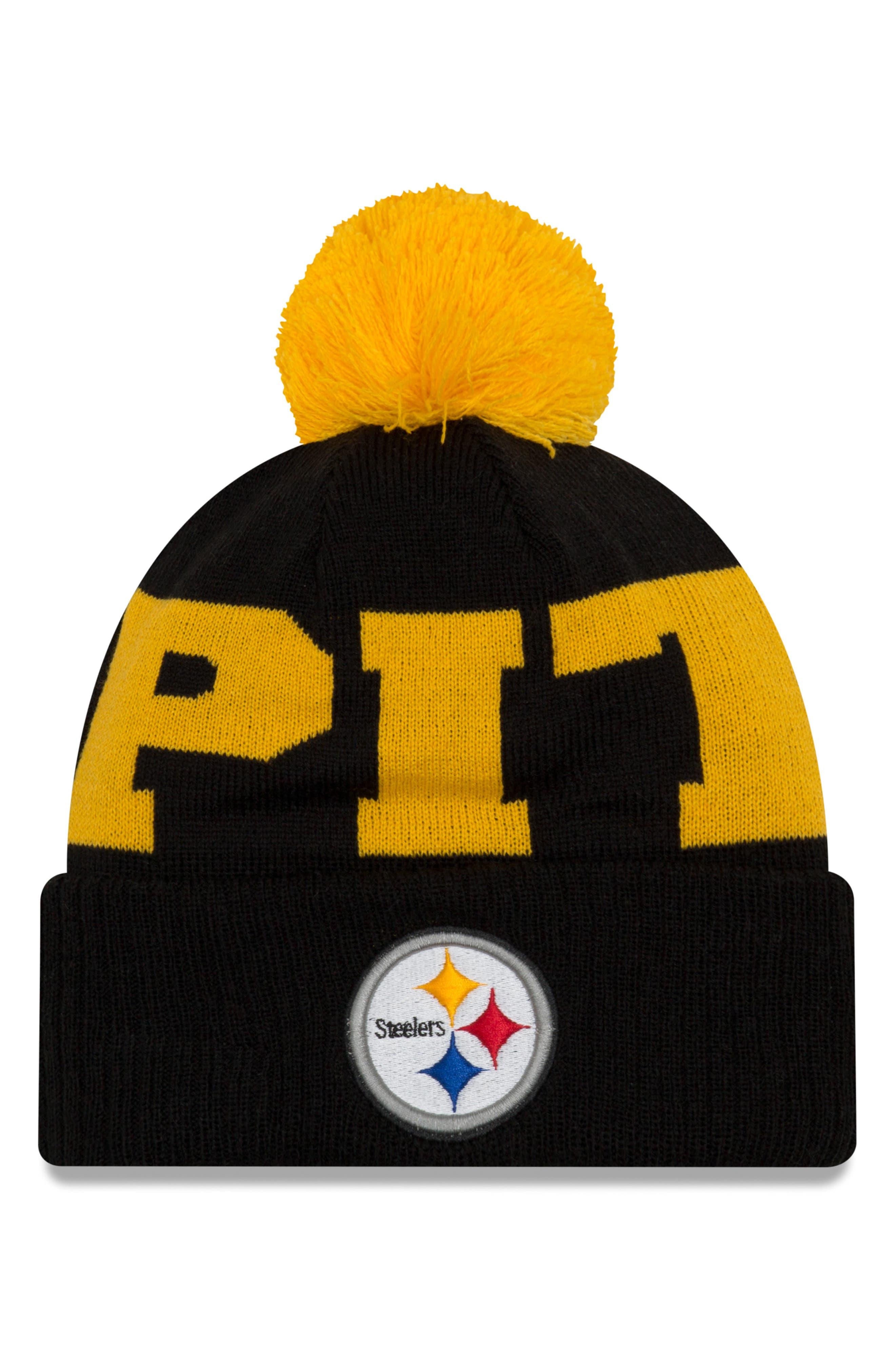 NEW ERA CAP NFL Pom Beanie, Main, color, 001