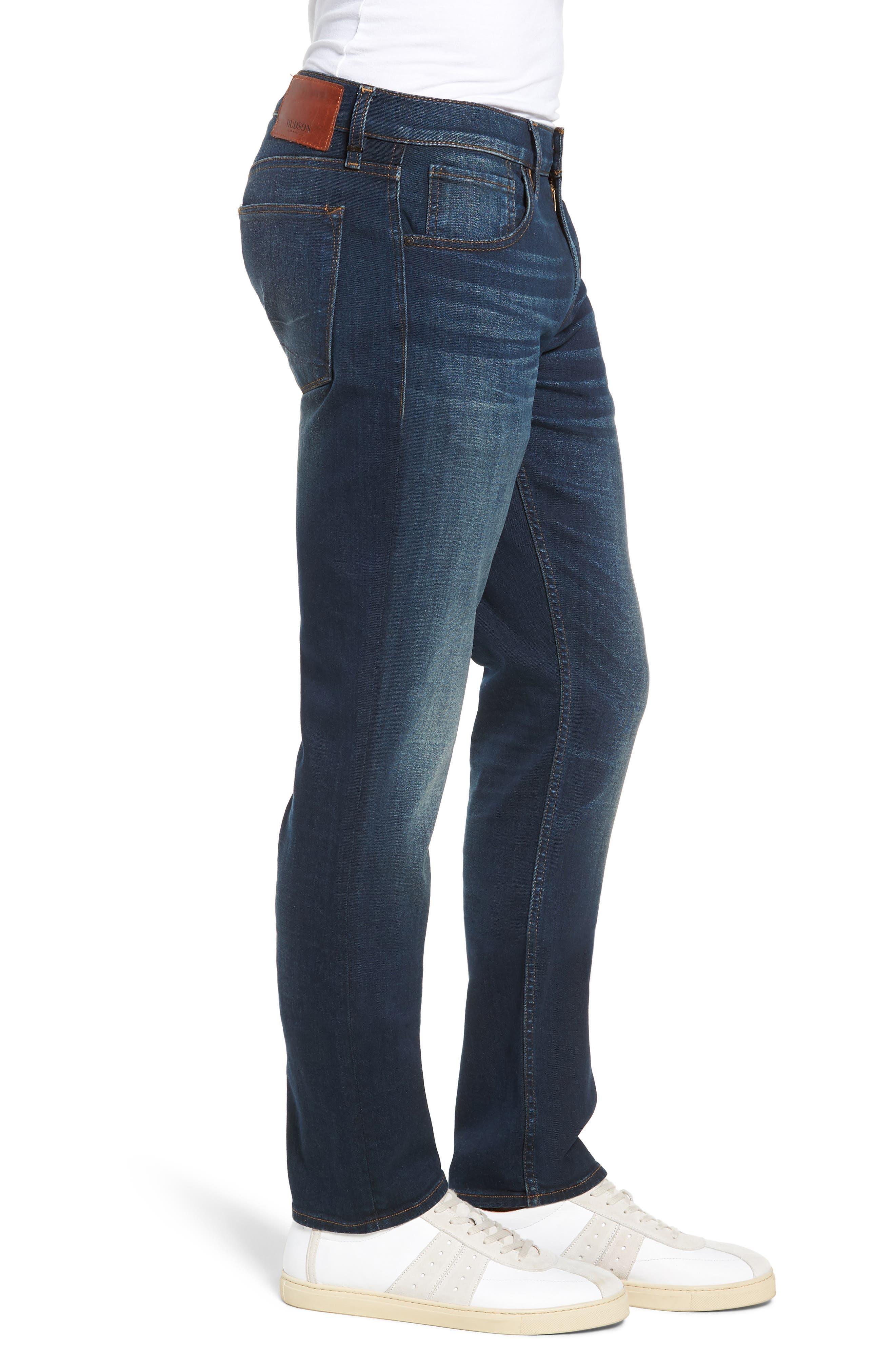 HUDSON JEANS, Blake Slim Fit Straight Leg Jeans, Alternate thumbnail 3, color, NORWOOD