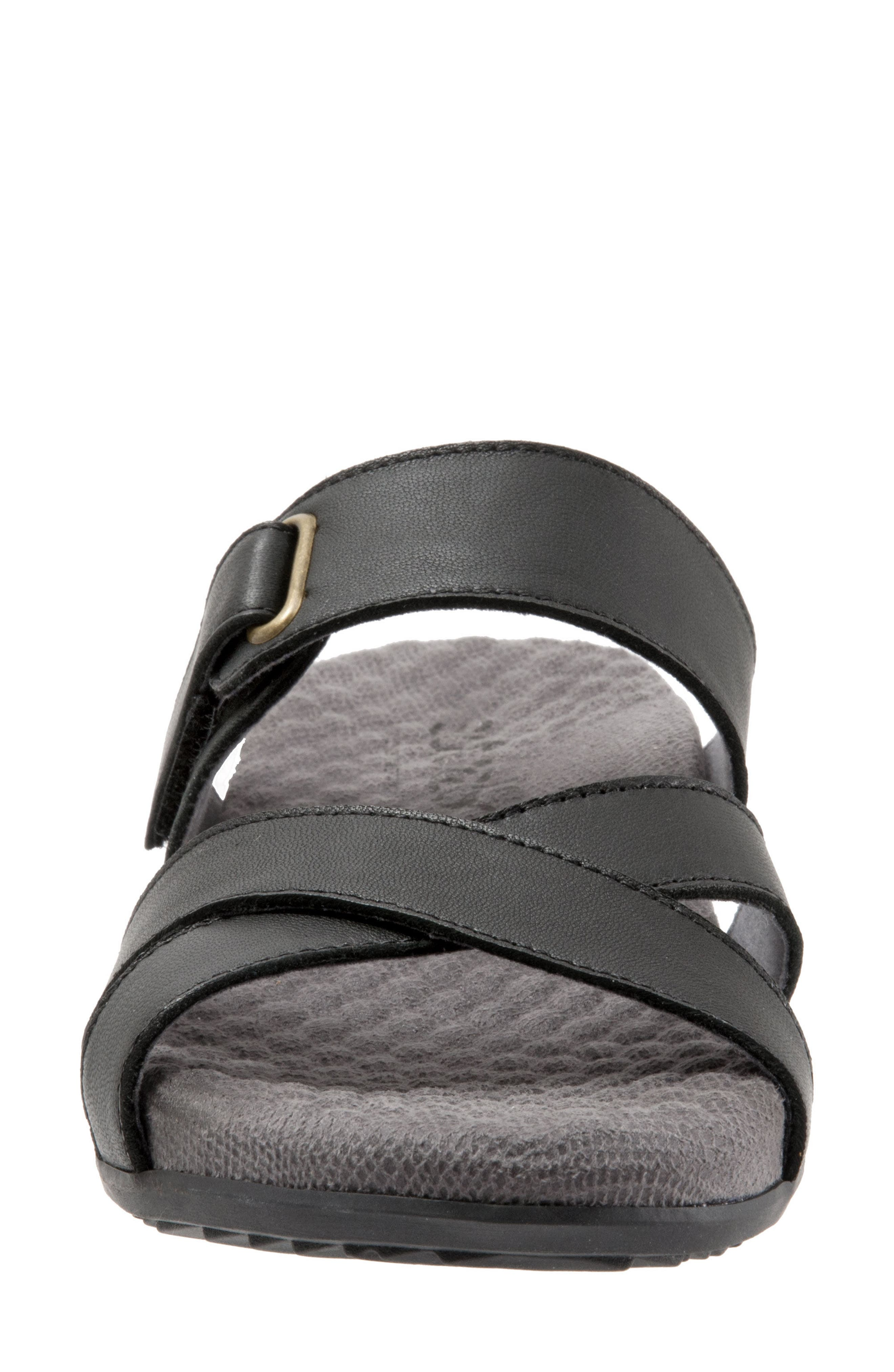 SOFTWALK<SUP>®</SUP>, Brimley Sandal, Alternate thumbnail 4, color, BLACK LEATHER