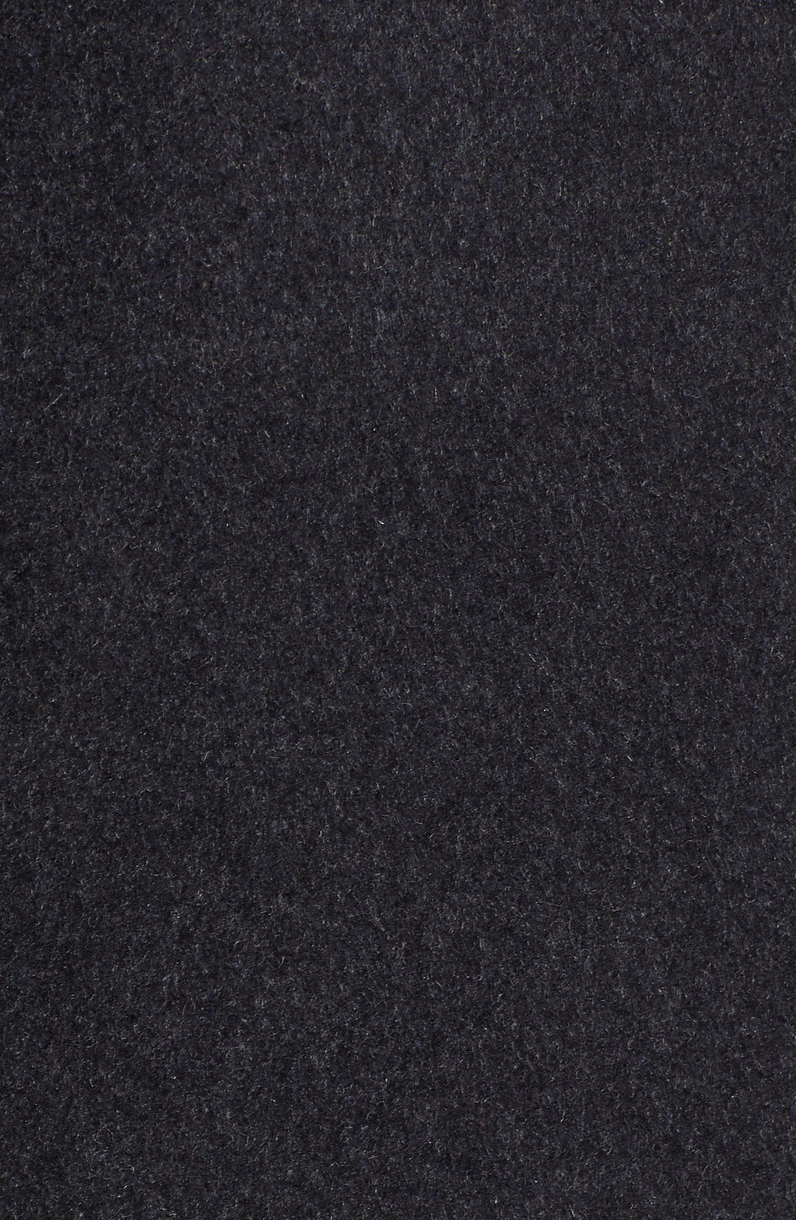 VIA SPIGA, Wool Blend Coat, Alternate thumbnail 7, color, CHARCOAL