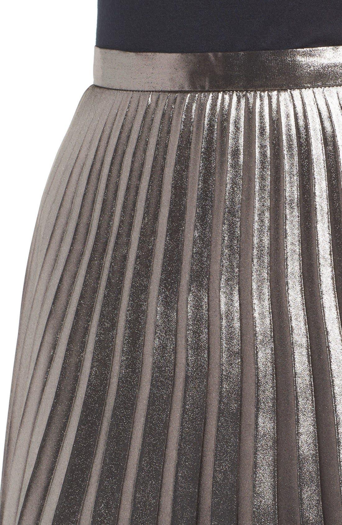 ASTR THE LABEL, ASTR Celeste Pleated Skirt, Alternate thumbnail 5, color, 224