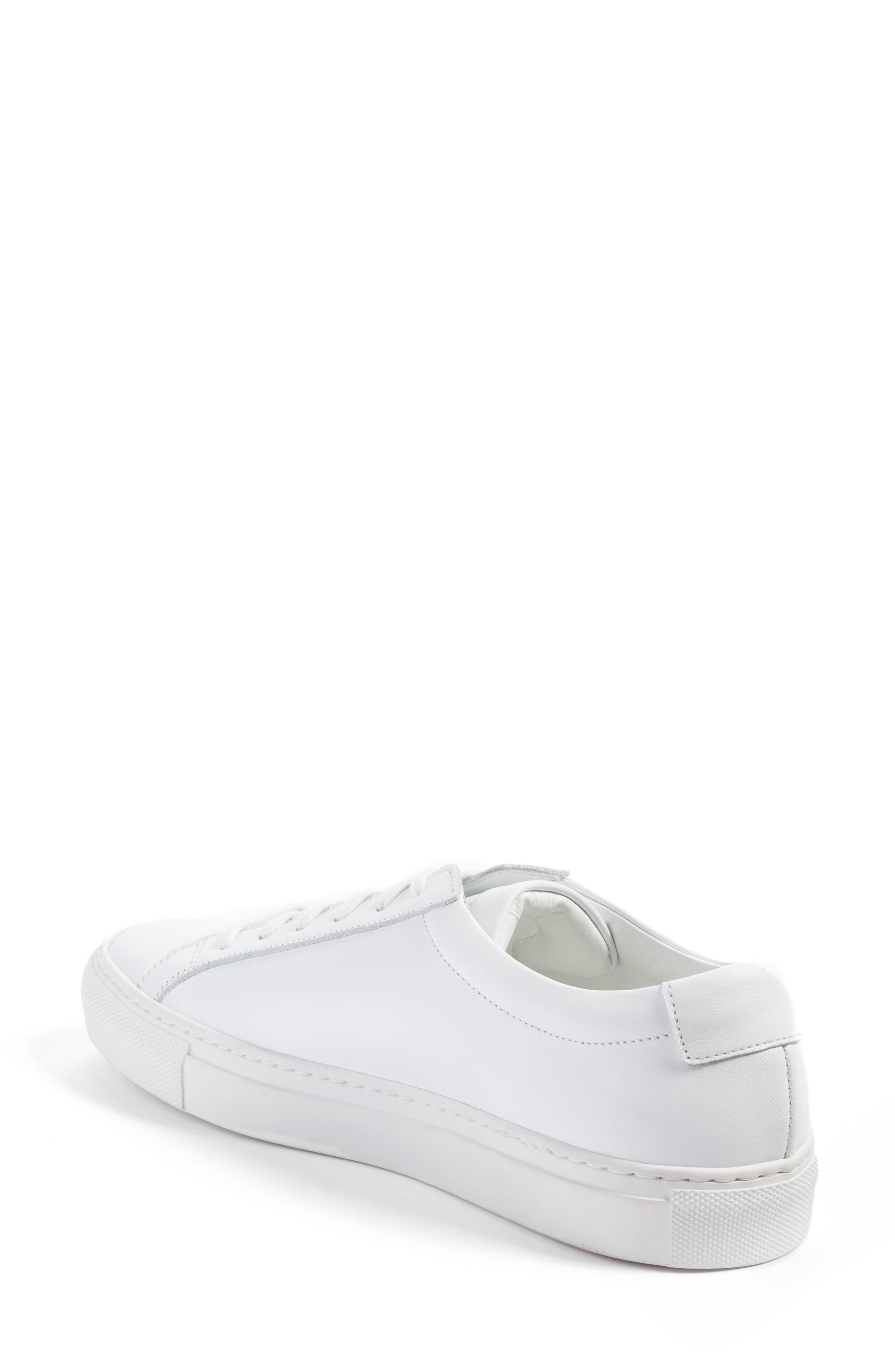 COMMON PROJECTS, Original Achilles Sneaker, Alternate thumbnail 2, color, WHITE LEATHER