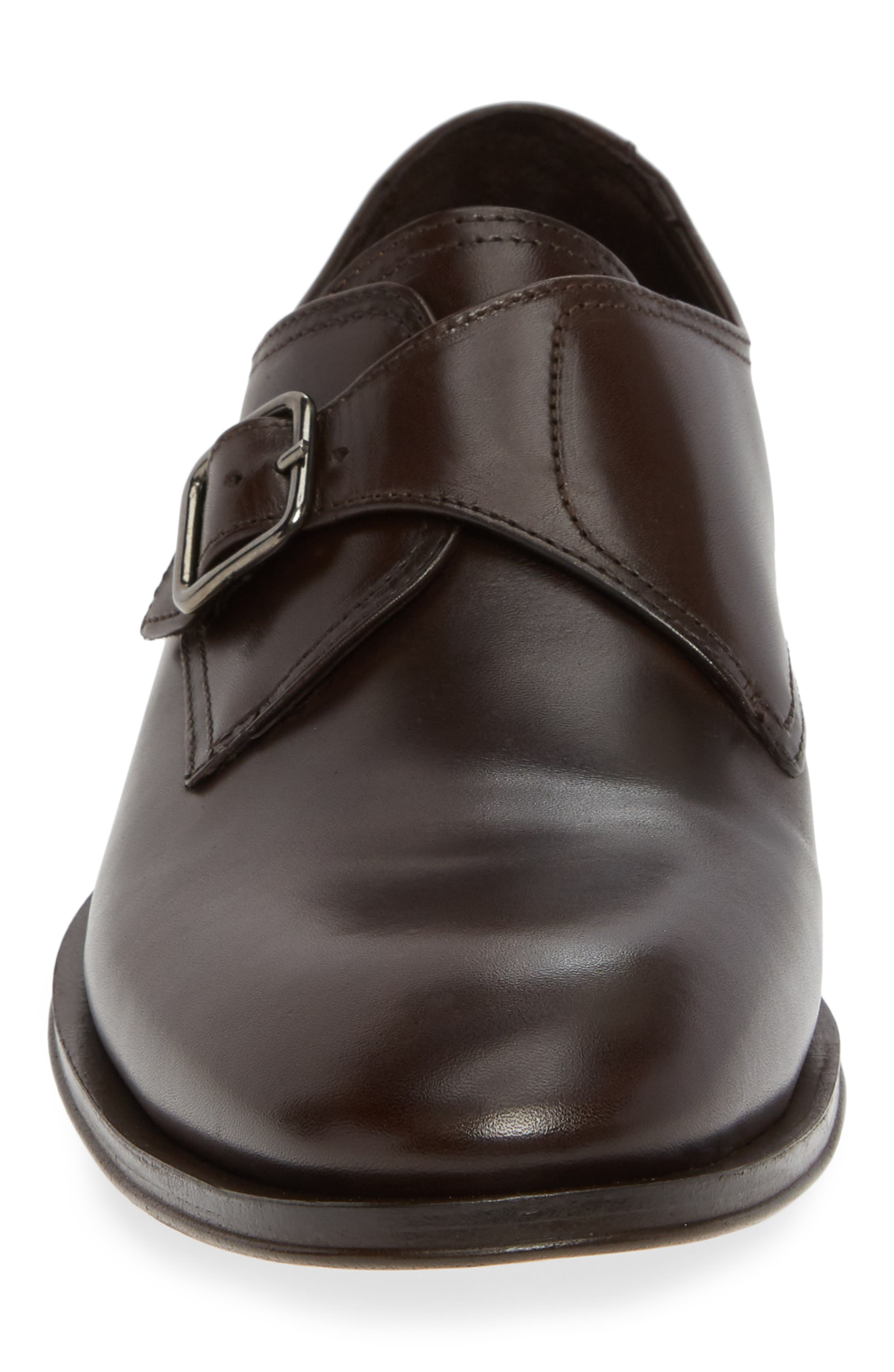 ALLEN EDMONDS, Umbria Monk Strap Shoe, Alternate thumbnail 4, color, DARK BROWN LEATHER