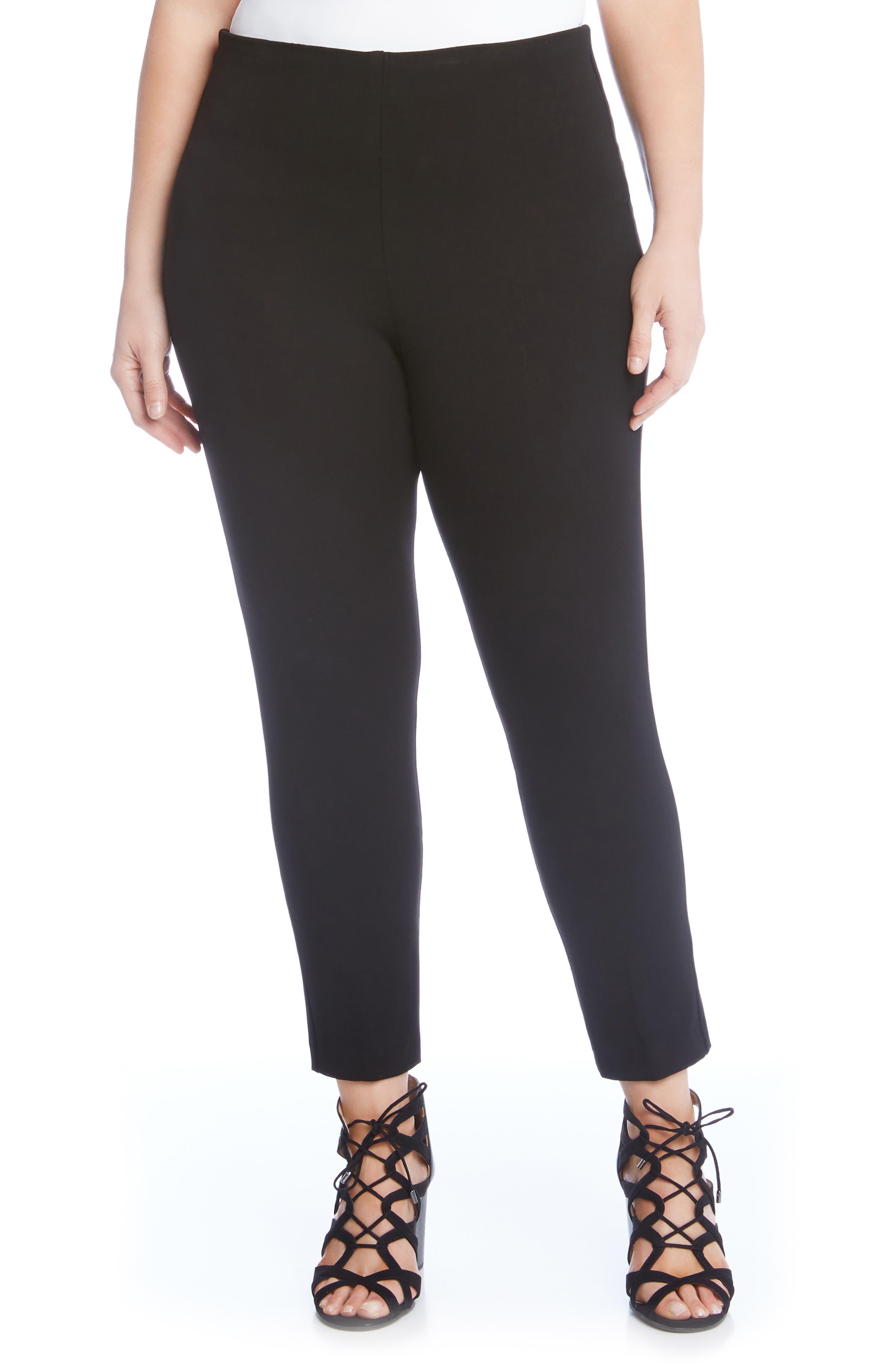 KAREN KANE Piper Skinny Ankle Pants, Main, color, BLACK
