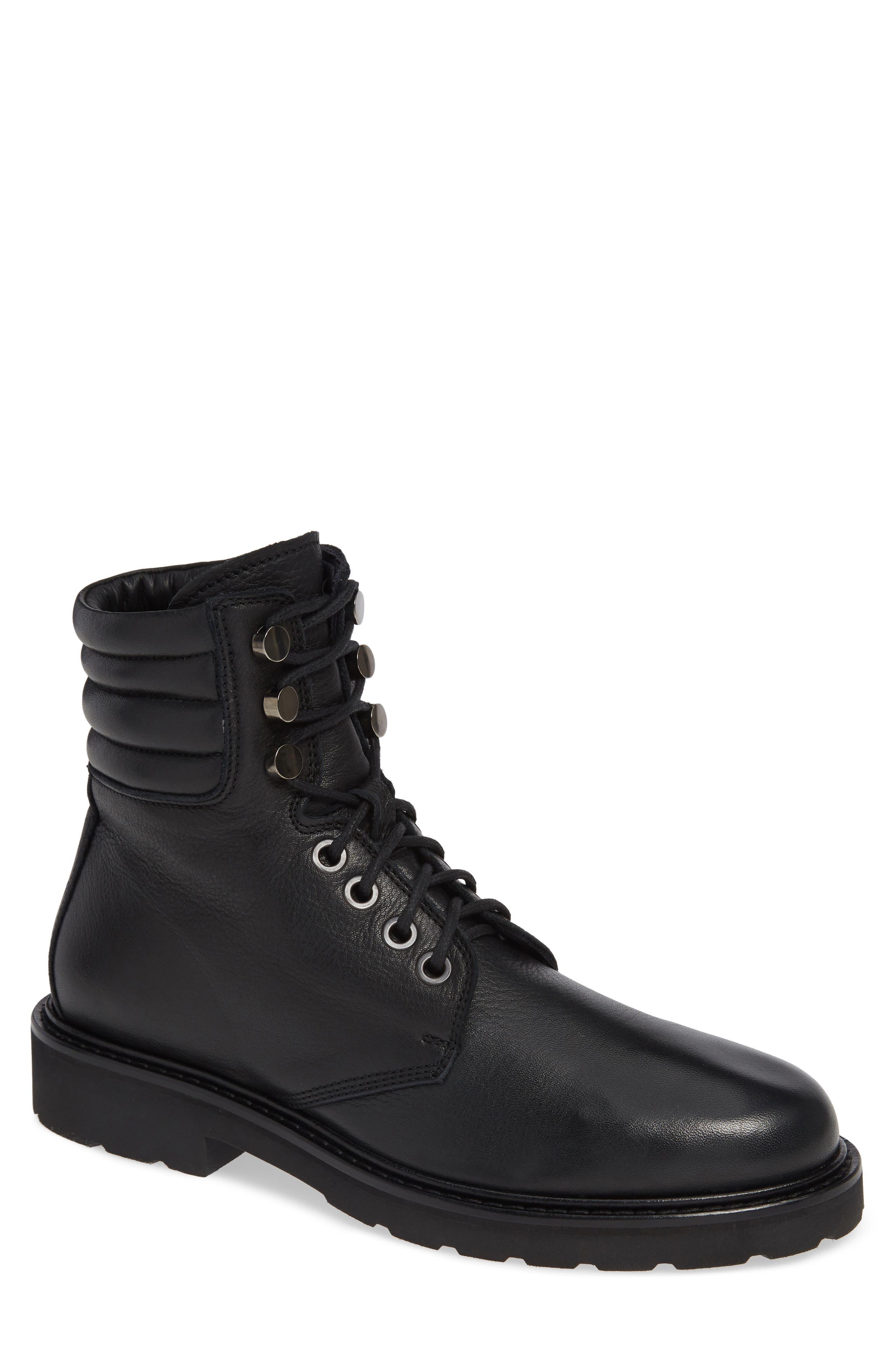 Aquatalia Heath Water Resistant Plain Toe Waterproof Boot- Black
