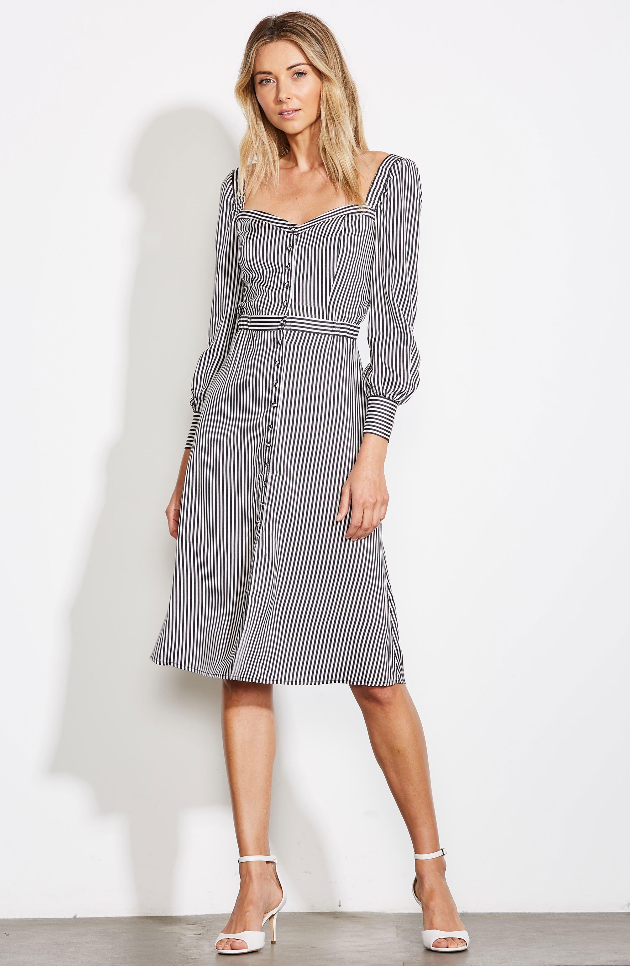 ALI & JAY, Take Me Downtown Stripe Dress, Alternate thumbnail 8, color, 001
