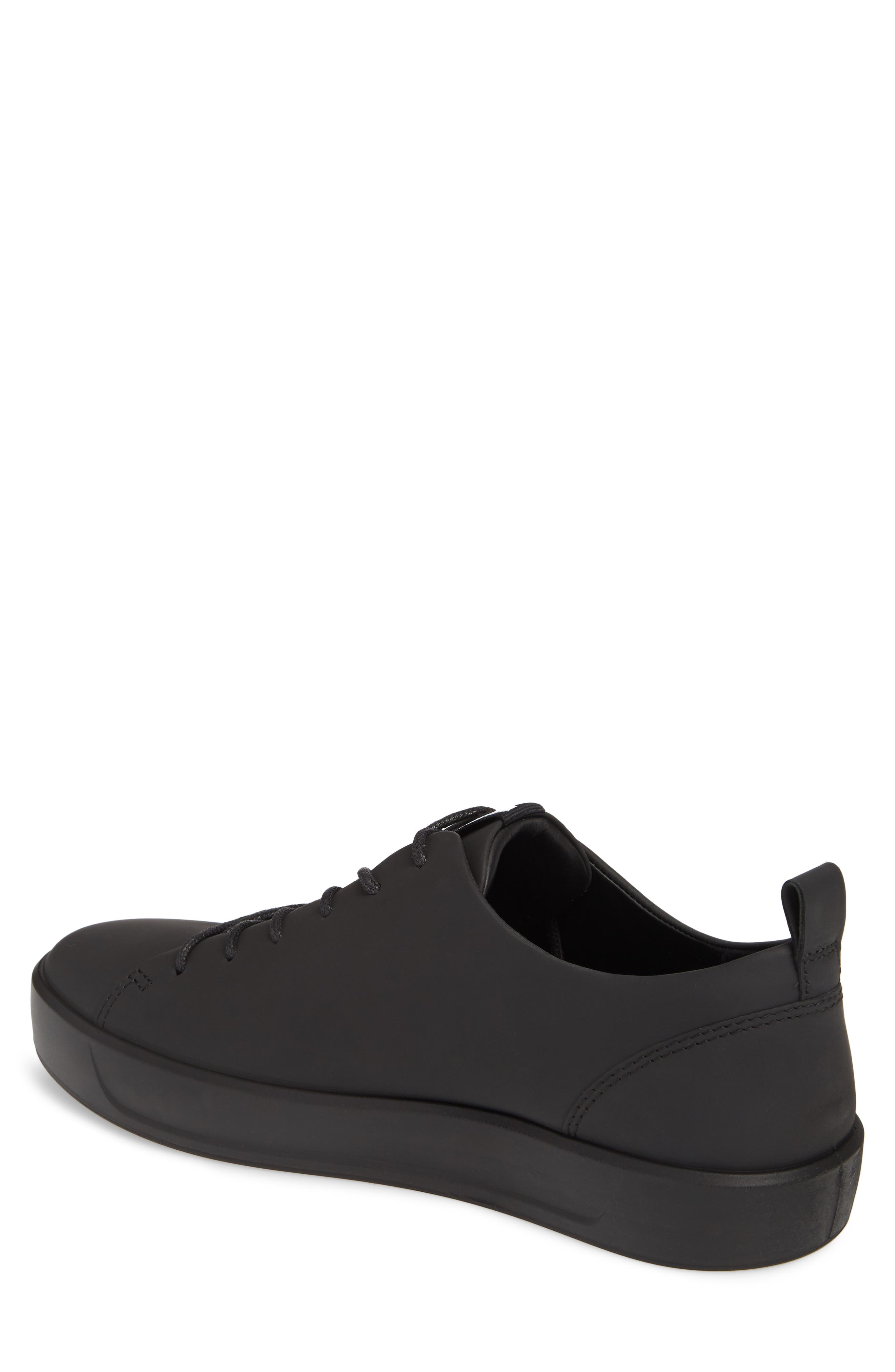 ECCO, Soft 8 Sneaker, Alternate thumbnail 2, color, BLACK LEATHER