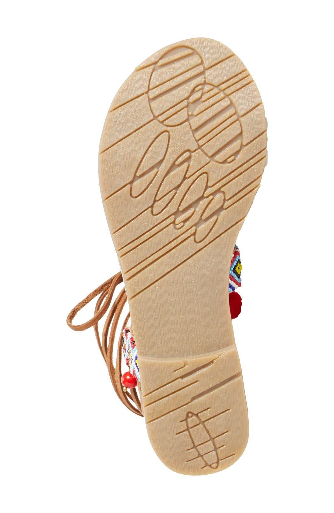 CHINESE LAUNDRY, 'Posh' Embellished Lace-Up Sandal, Alternate thumbnail 4, color, 218