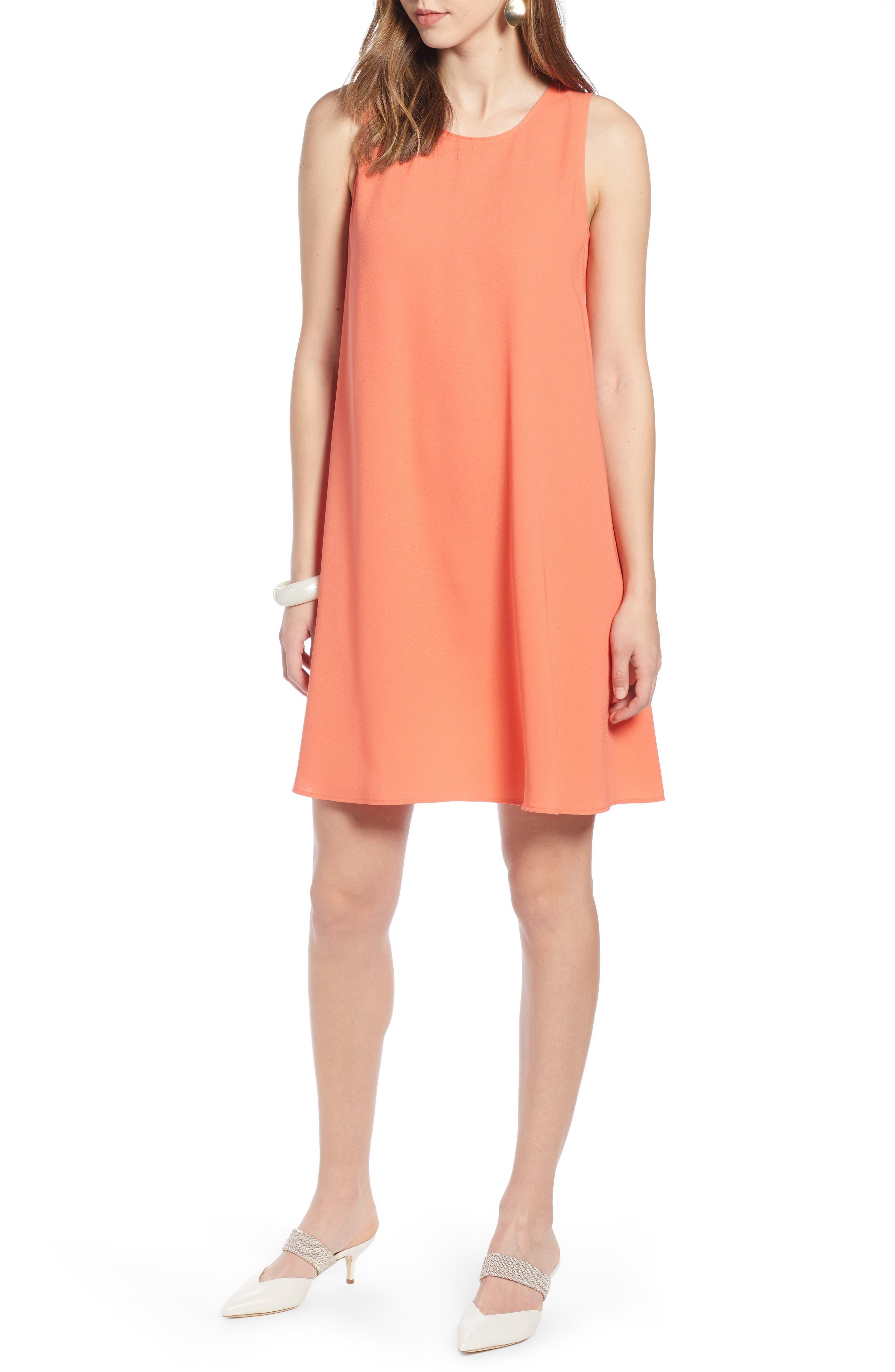 Halogen A-Line Dress, Orange