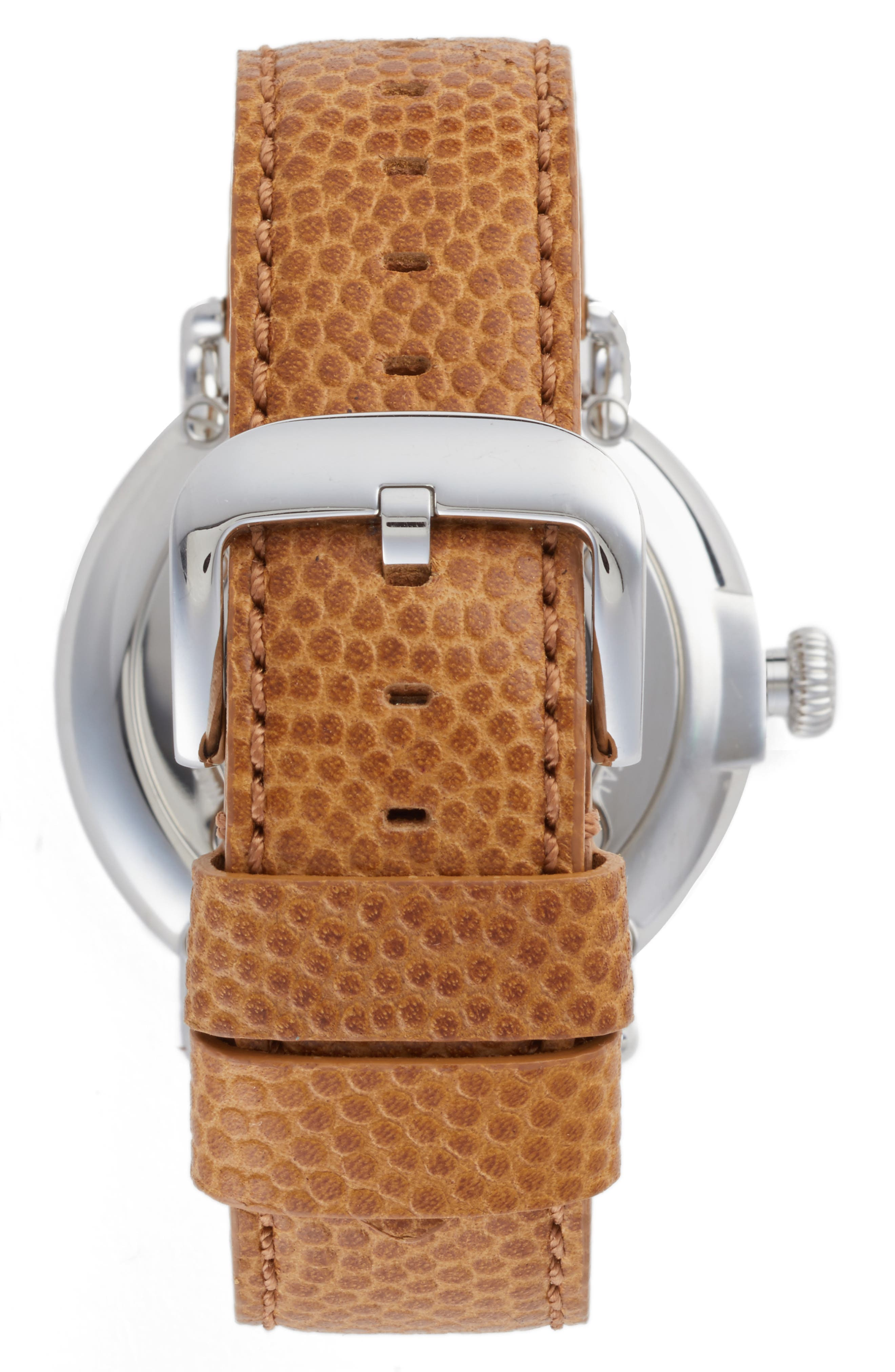 SHINOLA, Runwell Leather Strap Watch, 47mm, Alternate thumbnail 2, color, DARK CAMEL/ BRUSHED DARK