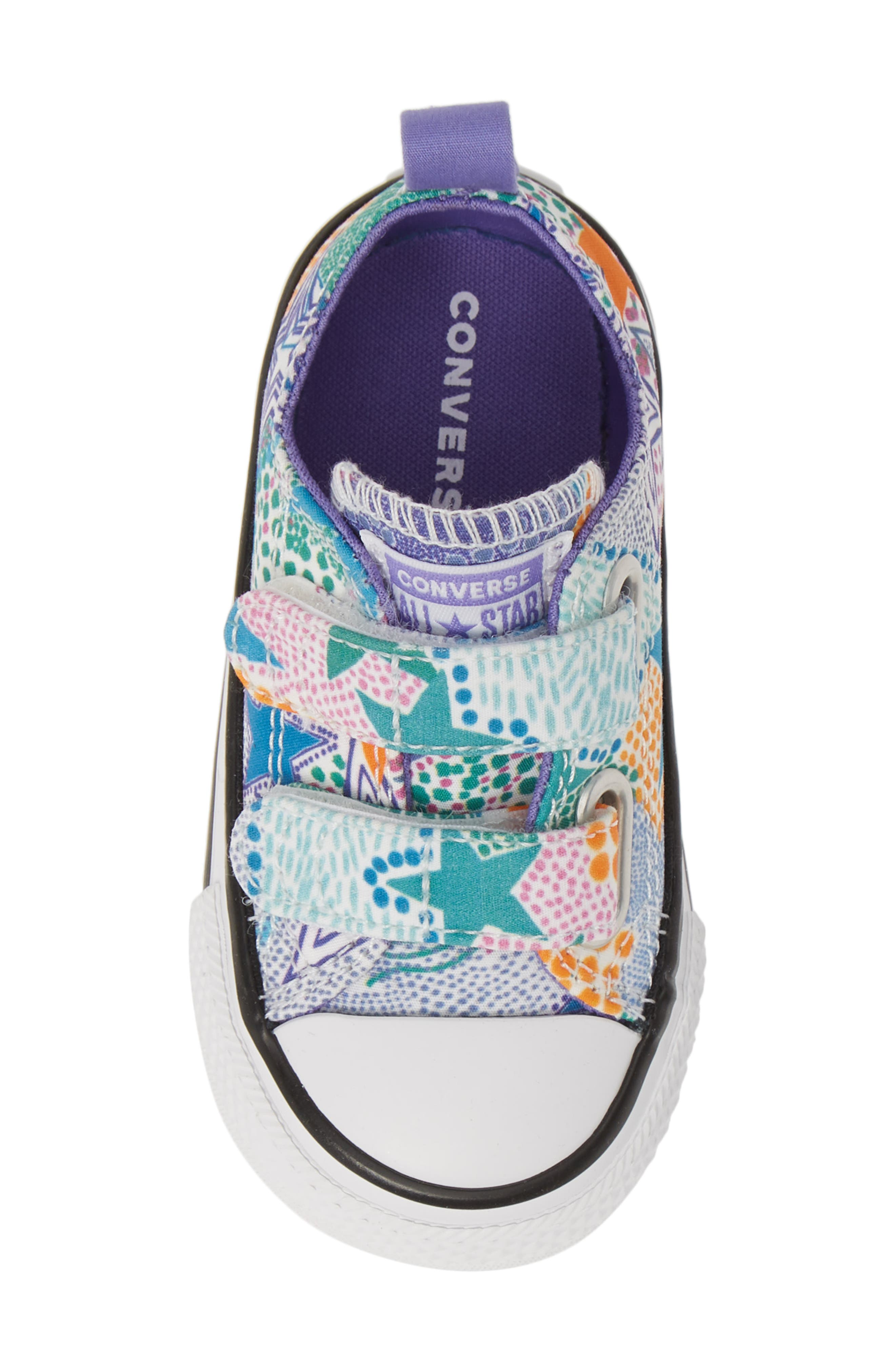 CONVERSE, Chuck Taylor<sup>®</sup> All Star<sup>®</sup> 2V Low Top Sneaker, Alternate thumbnail 5, color, WHITE/ WILD LILAC/ BLACK