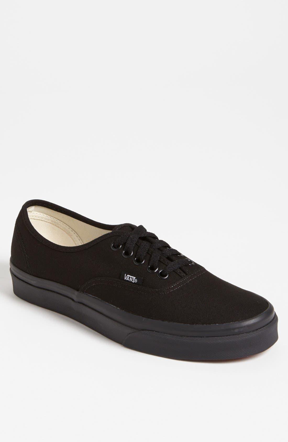 VANS, 'Authentic' Sneaker, Main thumbnail 1, color, BLACK/ BLACK