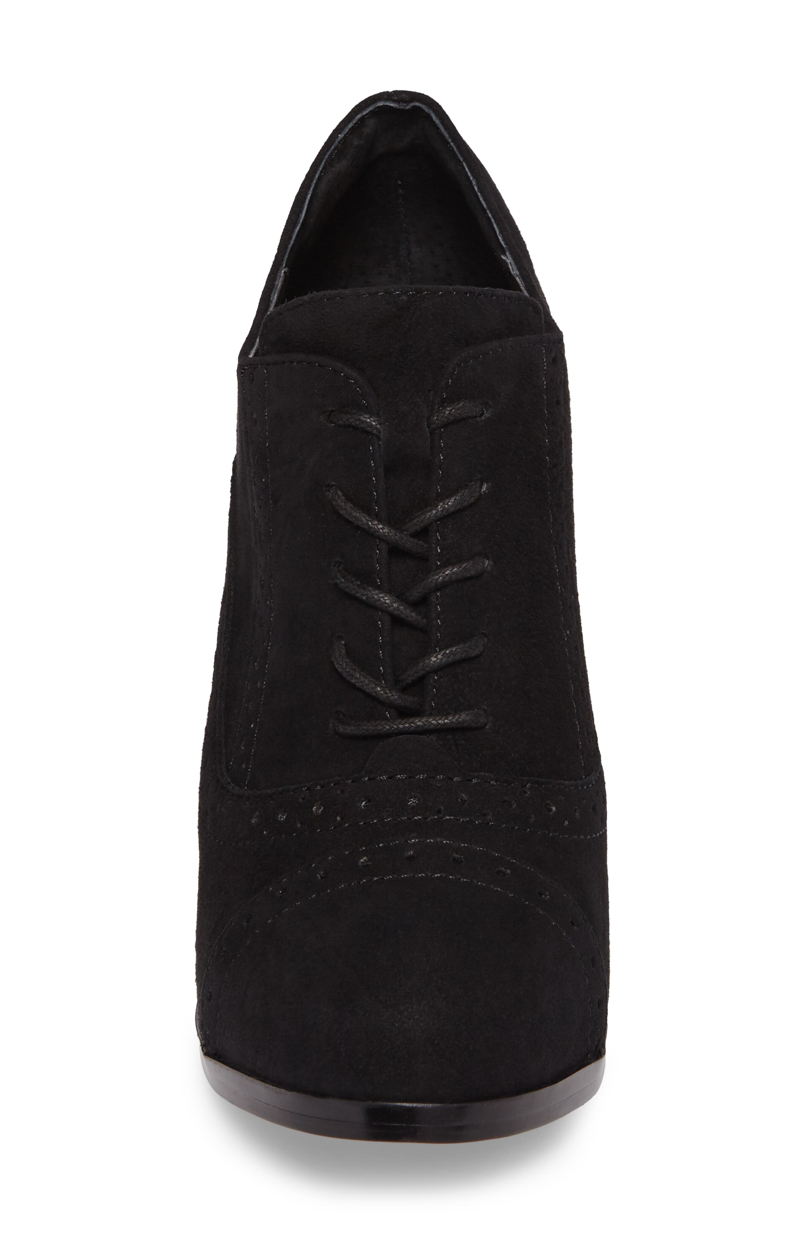 ISOLÁ, Holli Oxford Pump, Alternate thumbnail 4, color, BLACK SUEDE