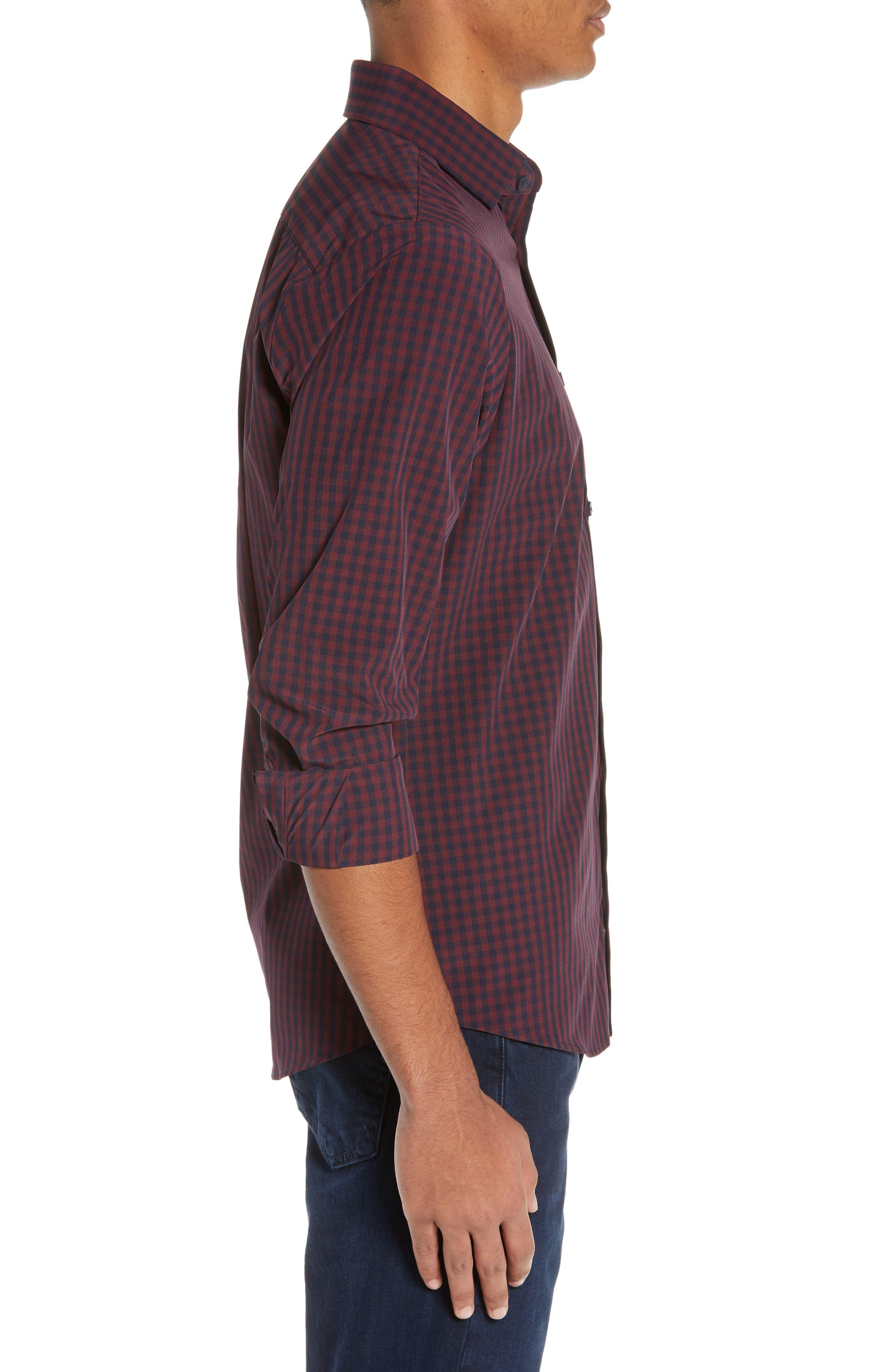 MIZZEN+MAIN, Marshall Check Sport Shirt, Alternate thumbnail 4, color, 930