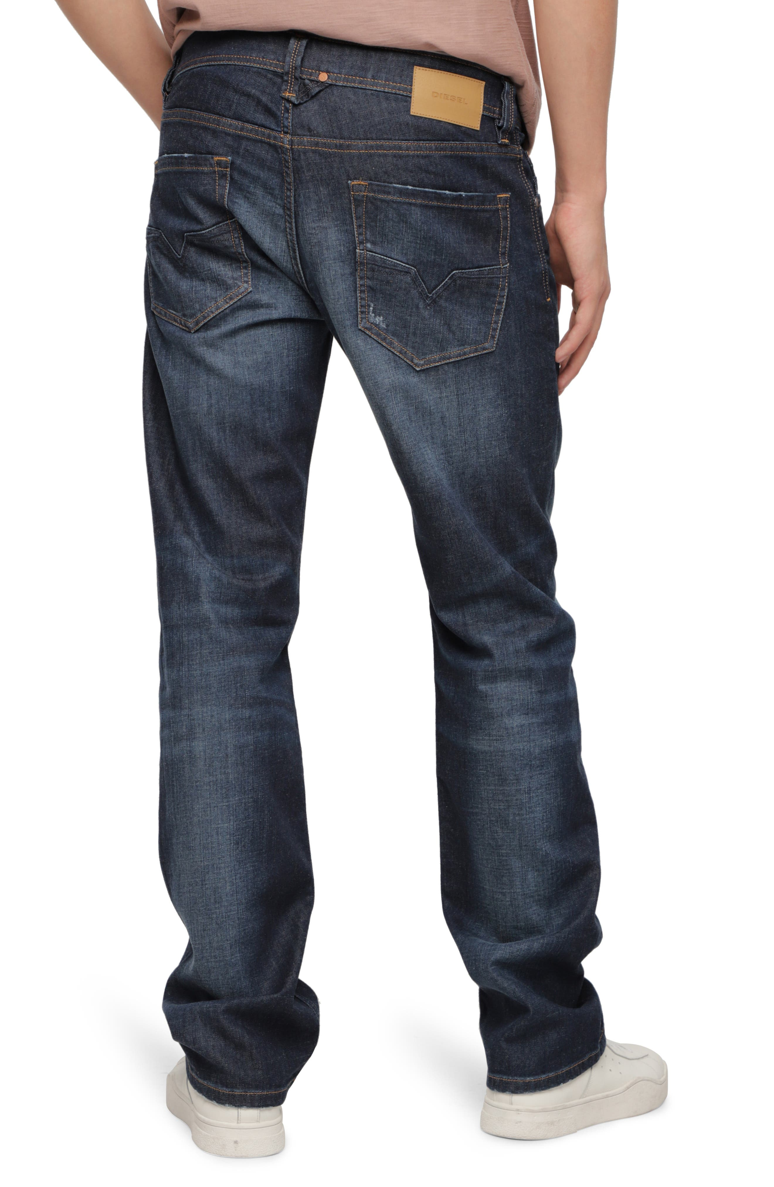 DIESEL<SUP>®</SUP>, Larkee Relaxed Fit Jeans, Alternate thumbnail 2, color, 400