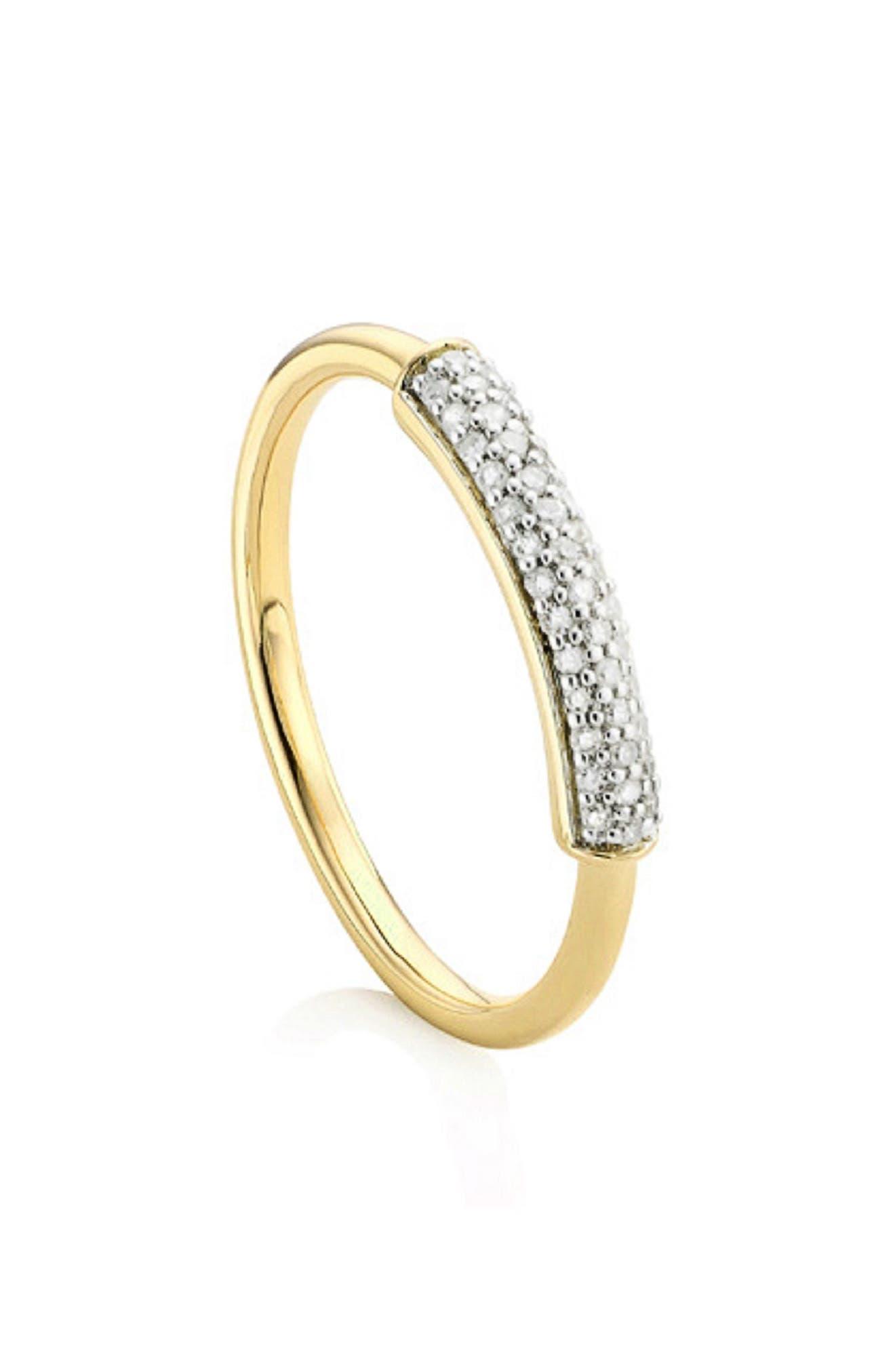 MONICA VINADER Stellar Diamond Band Ring, Main, color, GOLD