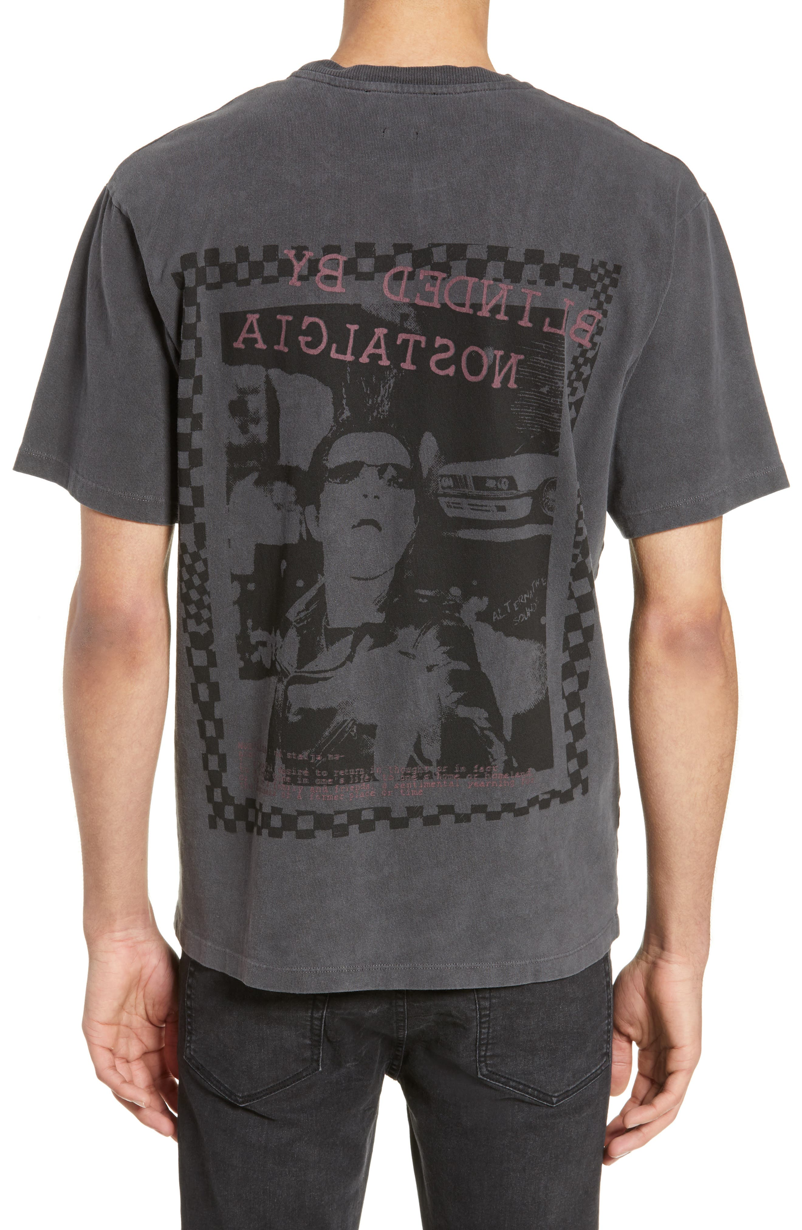 THE KOOPLES, Graphic T-Shirt, Alternate thumbnail 2, color, WASHED GREY