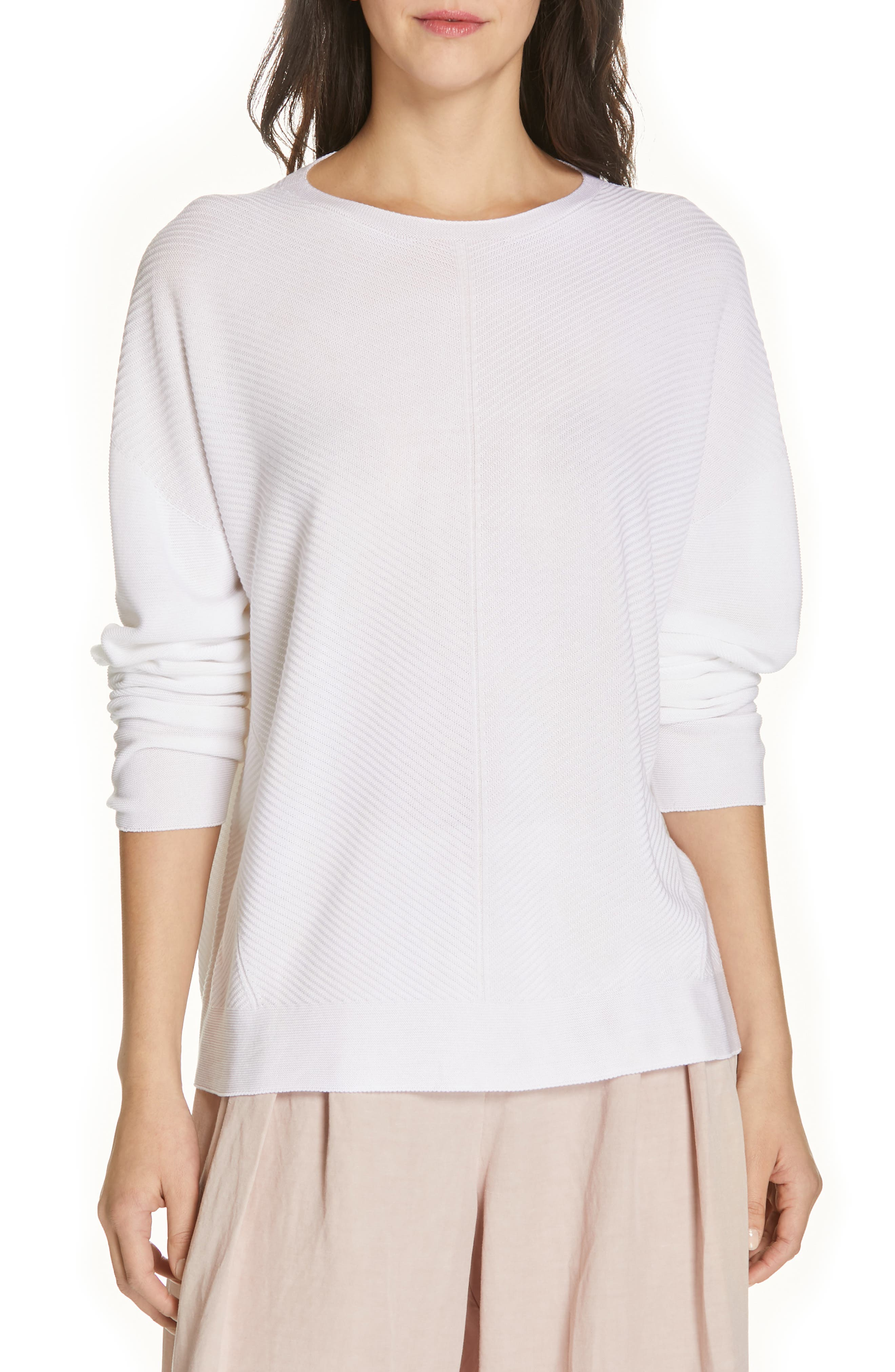 EILEEN FISHER, Round Neck Top, Main thumbnail 1, color, 103