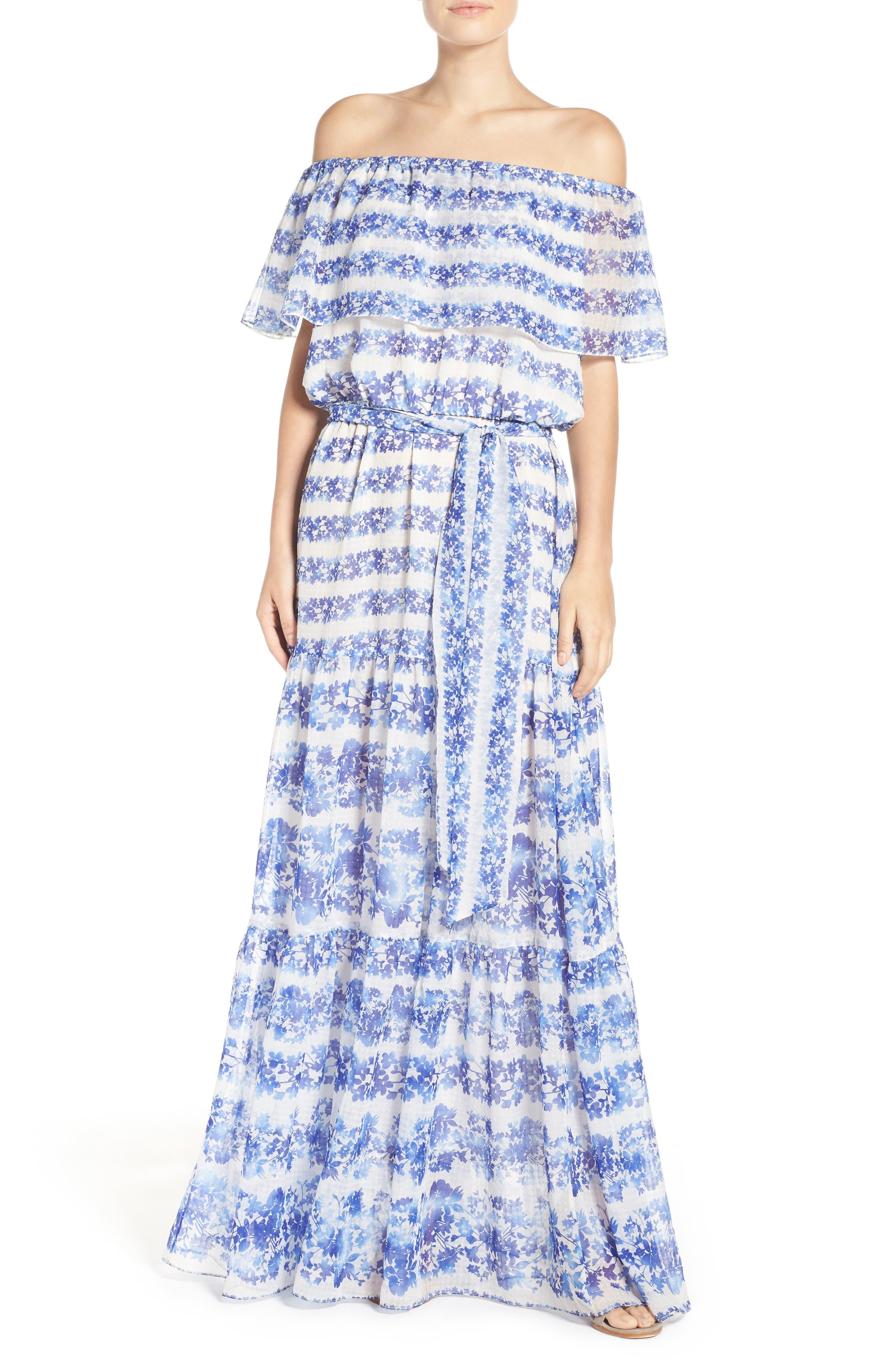 ELIZA J, Blouson Maxi Dress, Main thumbnail 1, color, 442