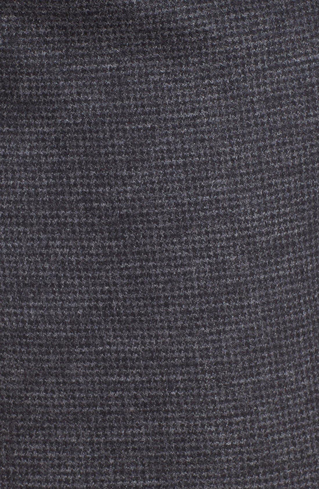 LANVIN, Microcheck Moto Pants, Alternate thumbnail 5, color, 020