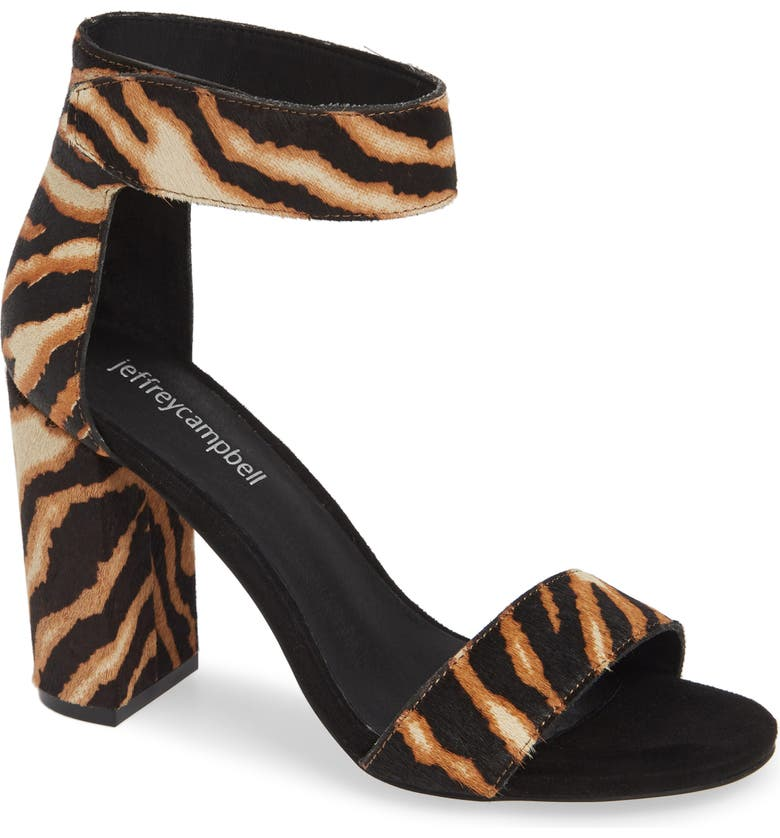 Jeffrey Campbell Lindsay Genuine Calf Hair Ankle Strap