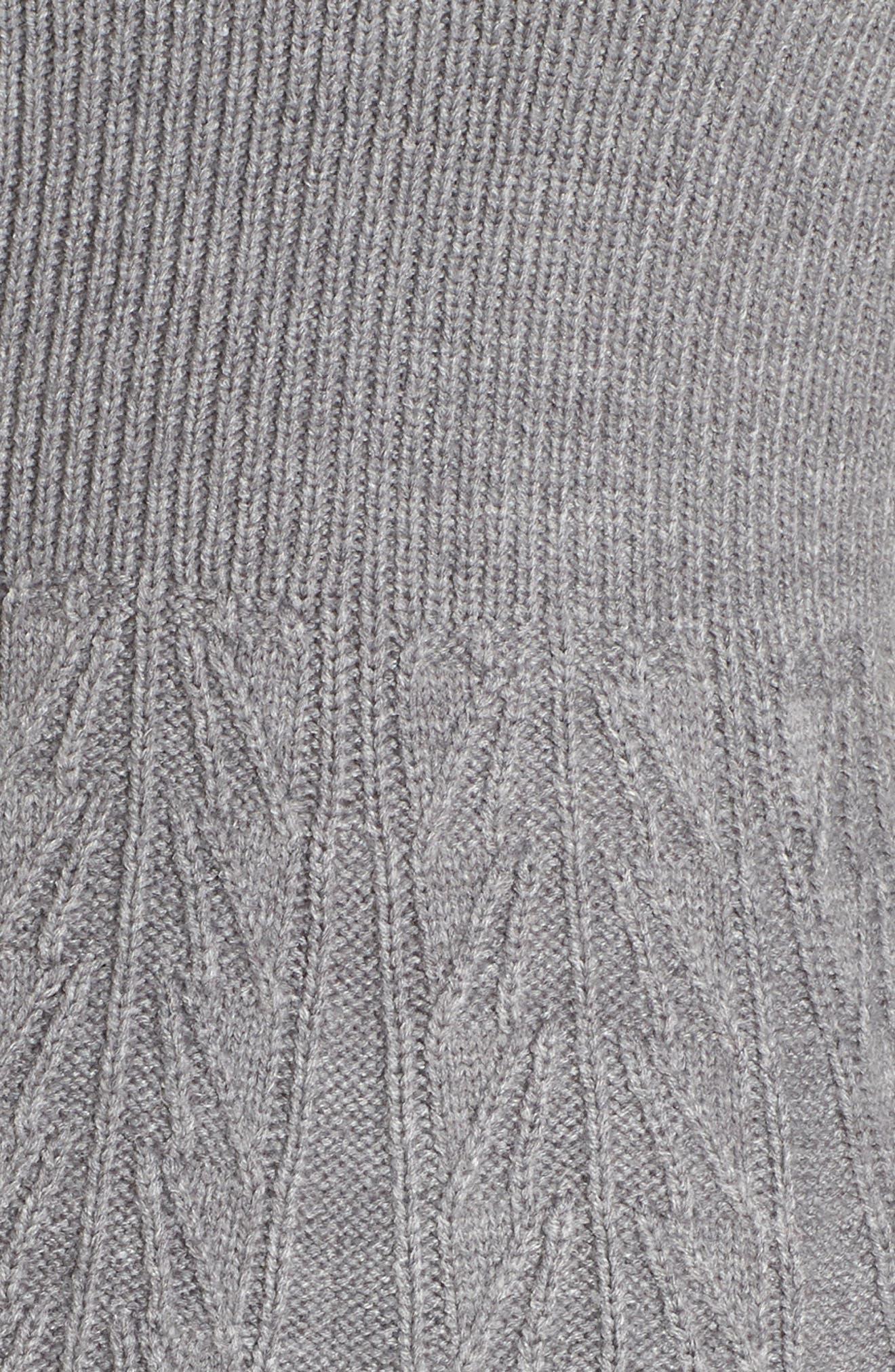ELIZA J, Mock Neck Fit & Flare Sweater Dress, Alternate thumbnail 6, color, 030