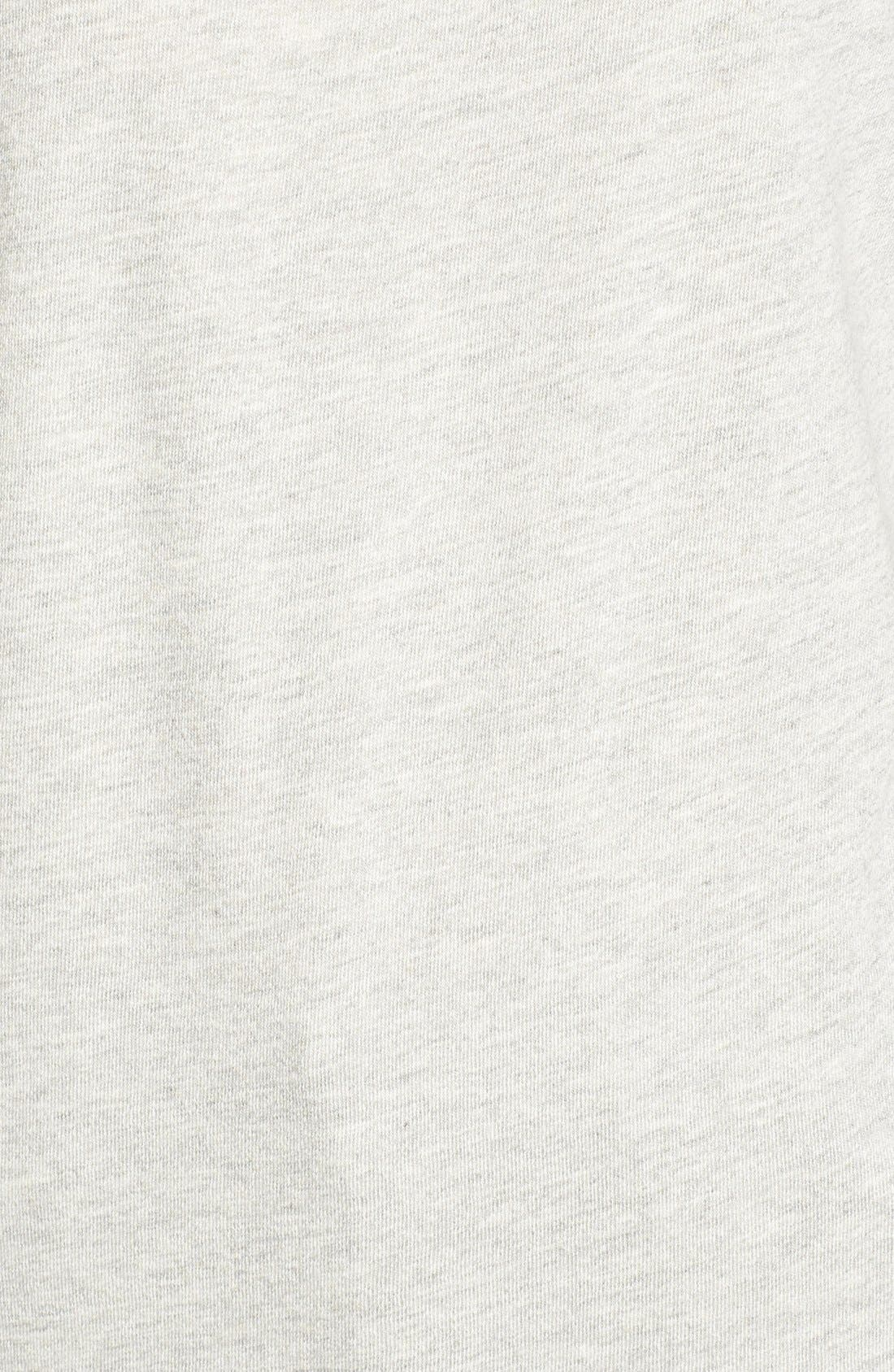PAM & GELA, Distressed Open Shoulder Sweatshirt, Alternate thumbnail 3, color, 031