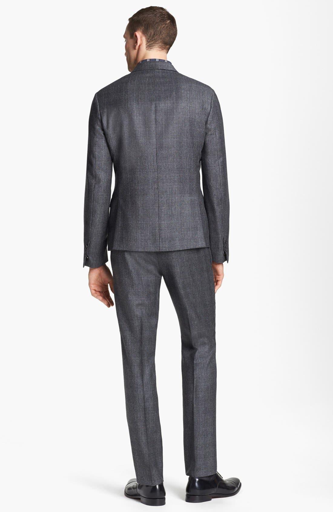 NEIL BARRETT, Windowpane Plaid Wool Suit, Alternate thumbnail 4, color, 020