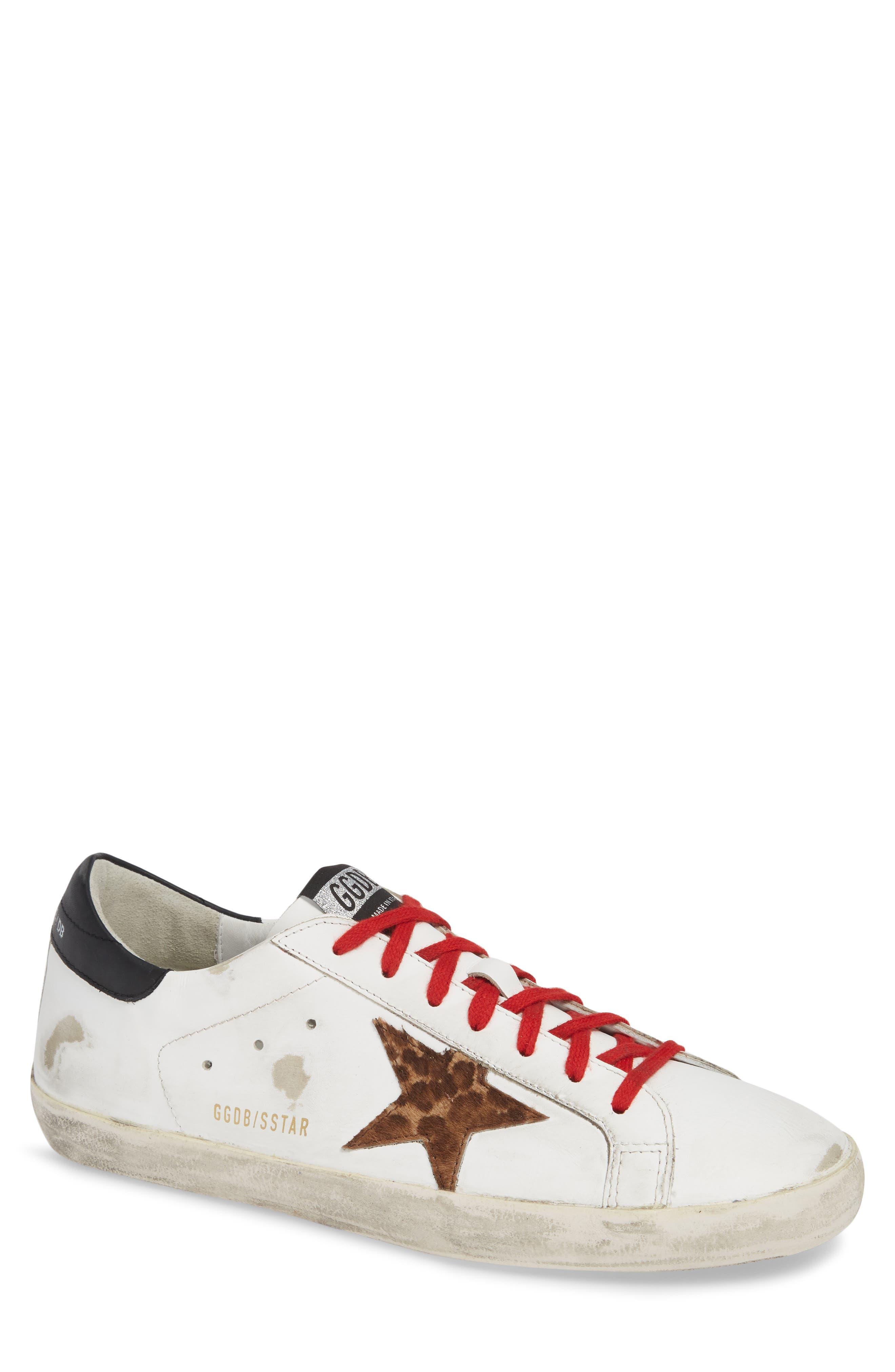 GOLDEN GOOSE, 'Superstar' Sneaker, Main thumbnail 1, color, WHITE/ BLACK