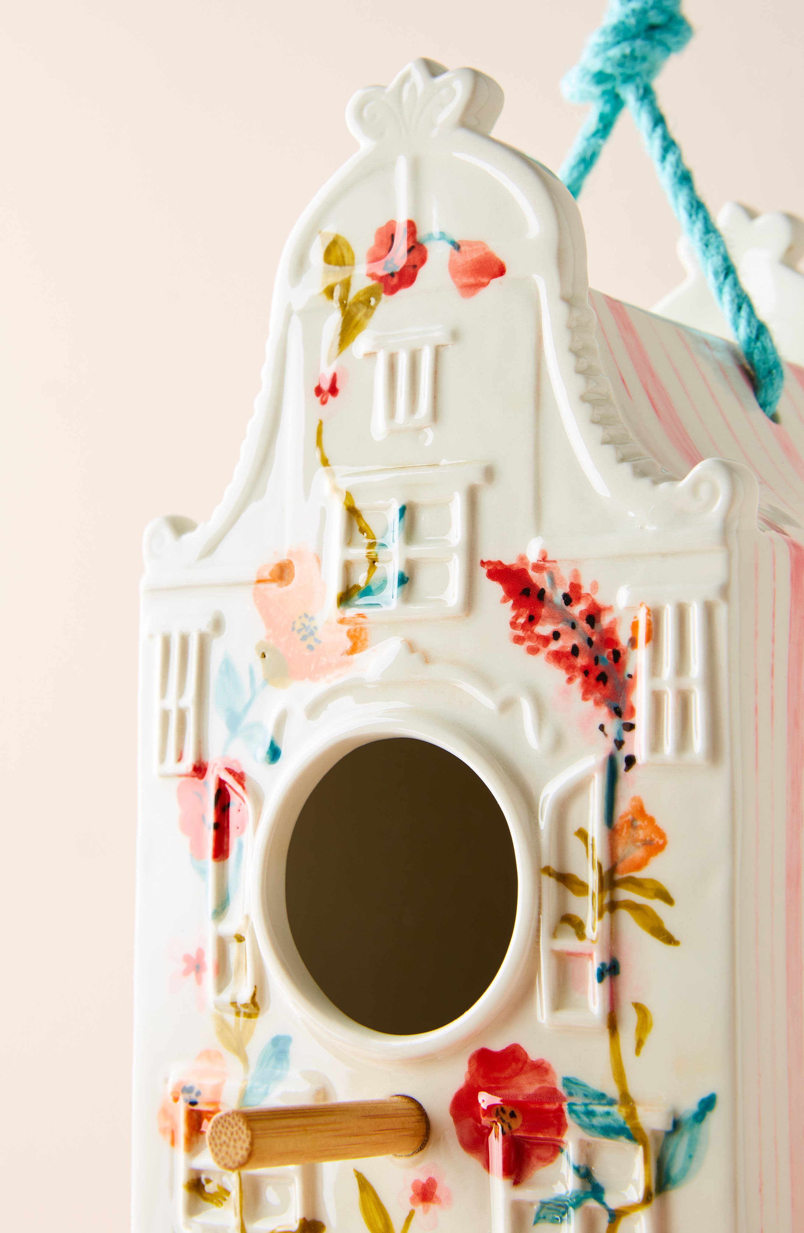 ANTHROPOLOGIE, Athropologie Alice Birdhouse, Alternate thumbnail 3, color, PINK