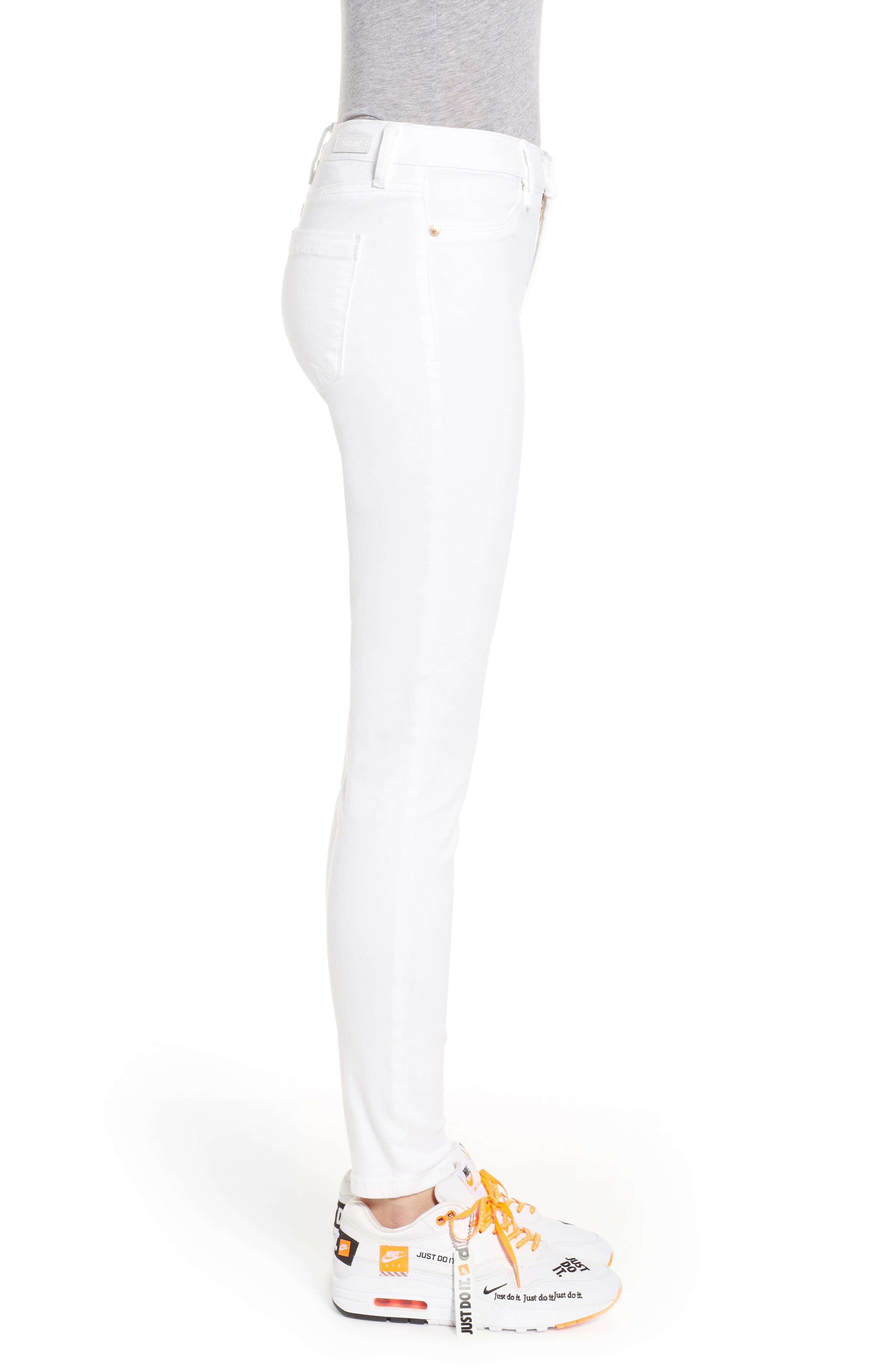 BLANKNYC, Skinny Jeans, Alternate thumbnail 4, color, GREAT WHITE