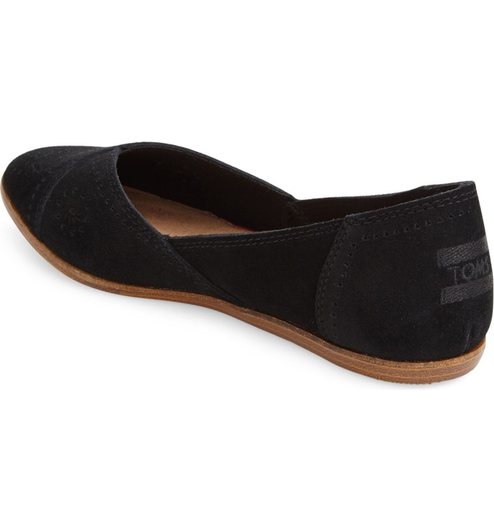 c62762c49b5 TOMS  Jutti  Perforated Pointy Toe Flat (Women)