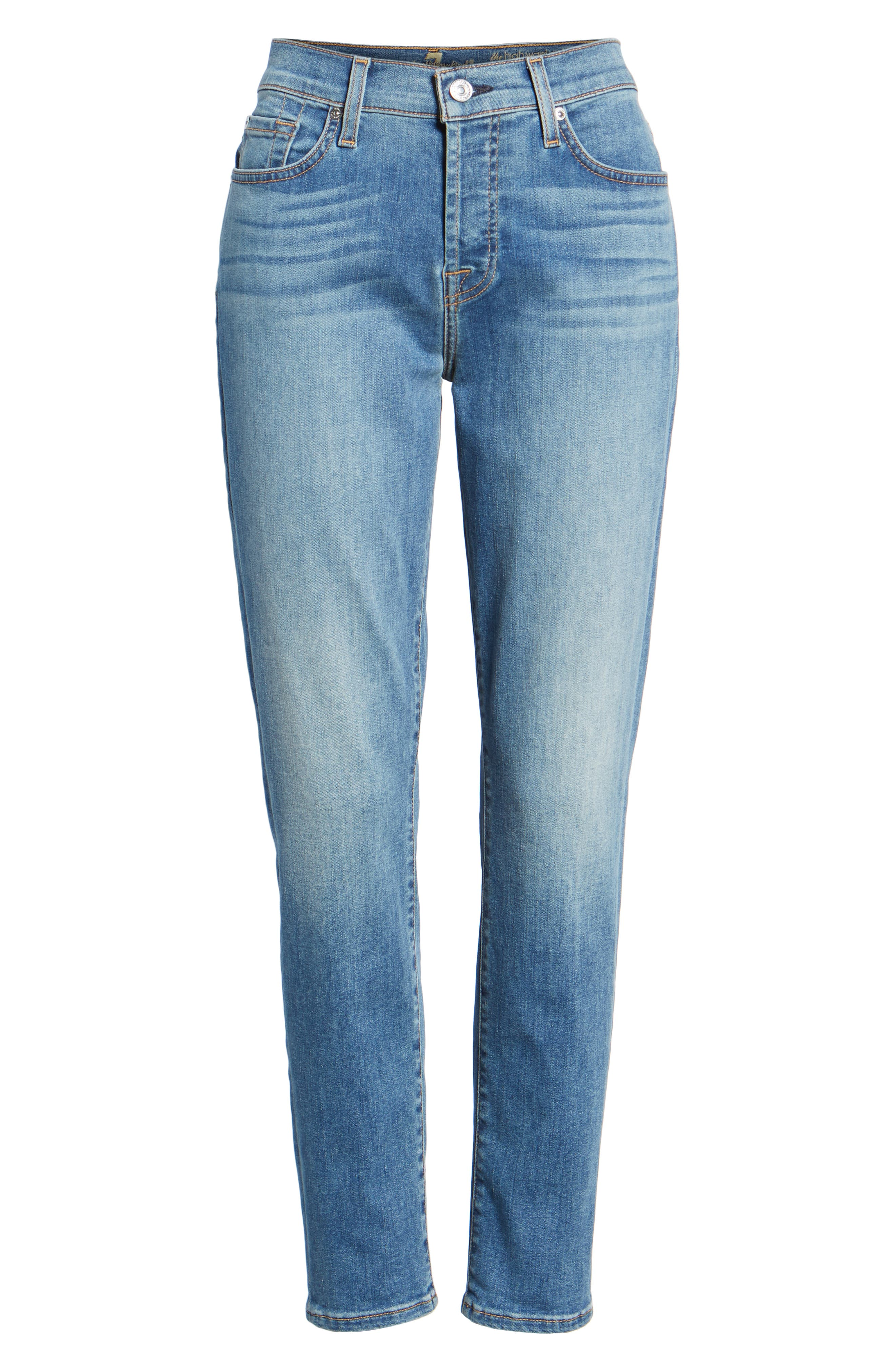 7 FOR ALL MANKIND<SUP>®</SUP>, Josefina Crop Boyfriend Jeans, Alternate thumbnail 7, color, GILDED DAWN