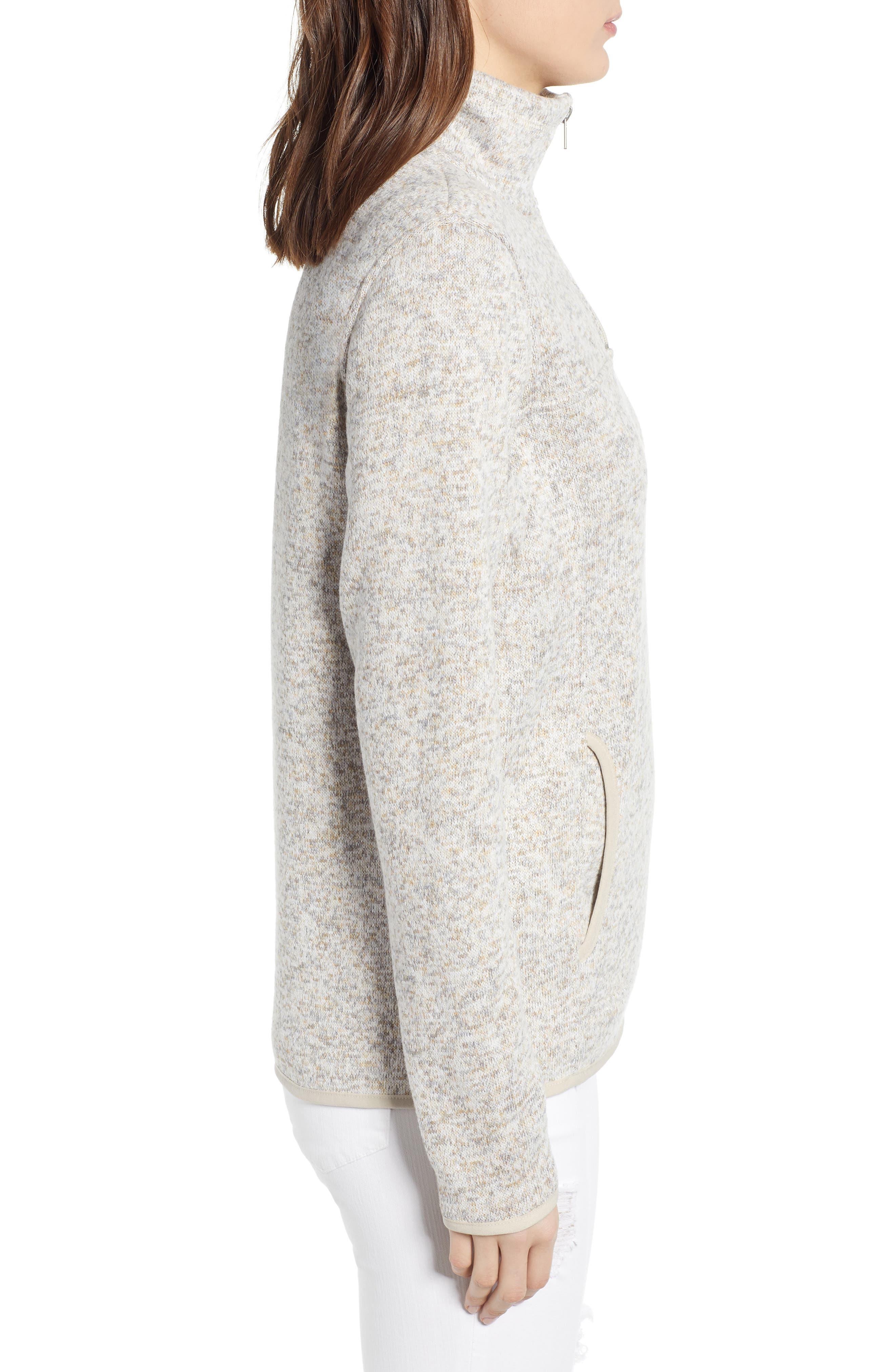 THREAD & SUPPLY, Madison Fleece Jacket, Alternate thumbnail 3, color, HEATHER OATMEAL