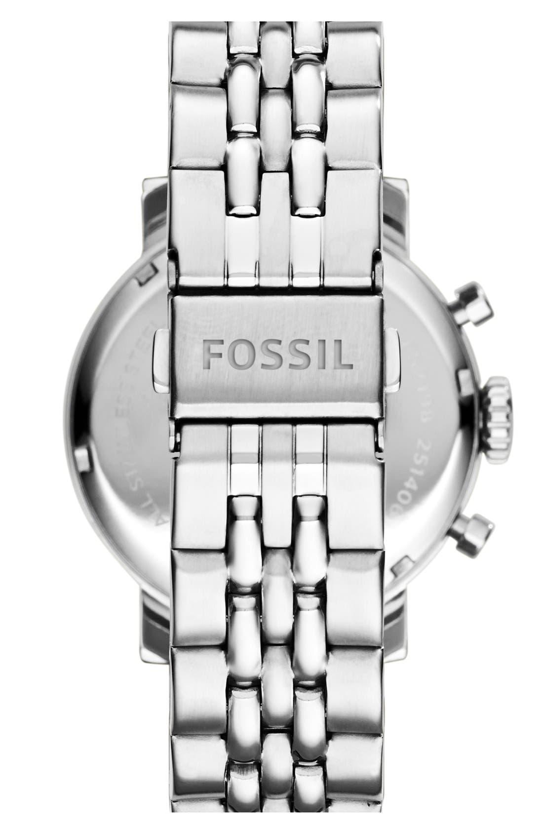 FOSSIL, 'Original Boyfriend' Chronograph Bracelet Watch, 38mm, Alternate thumbnail 3, color, 040